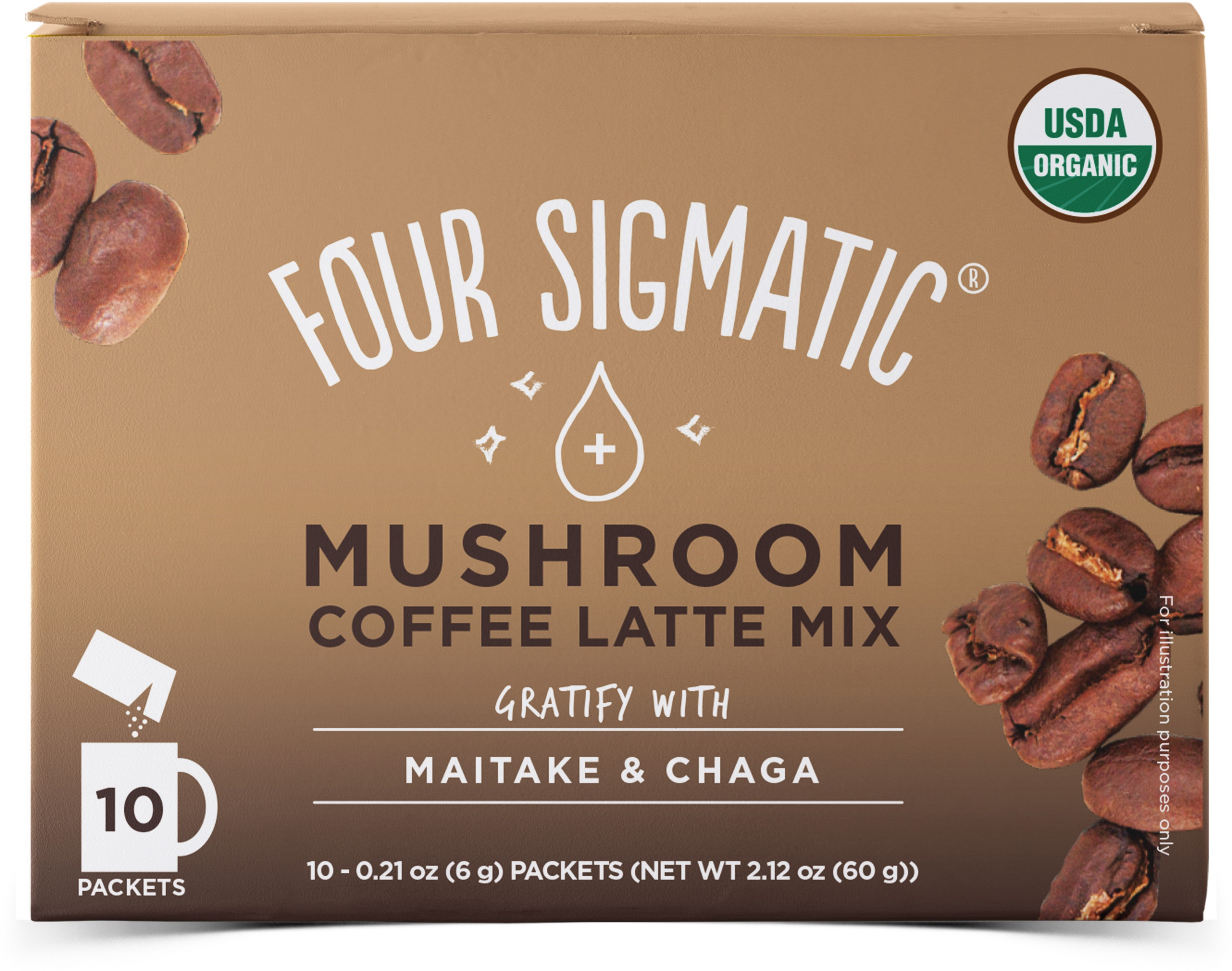 Coffee Latte Mix Think With Lion's Mane 10 x 6g