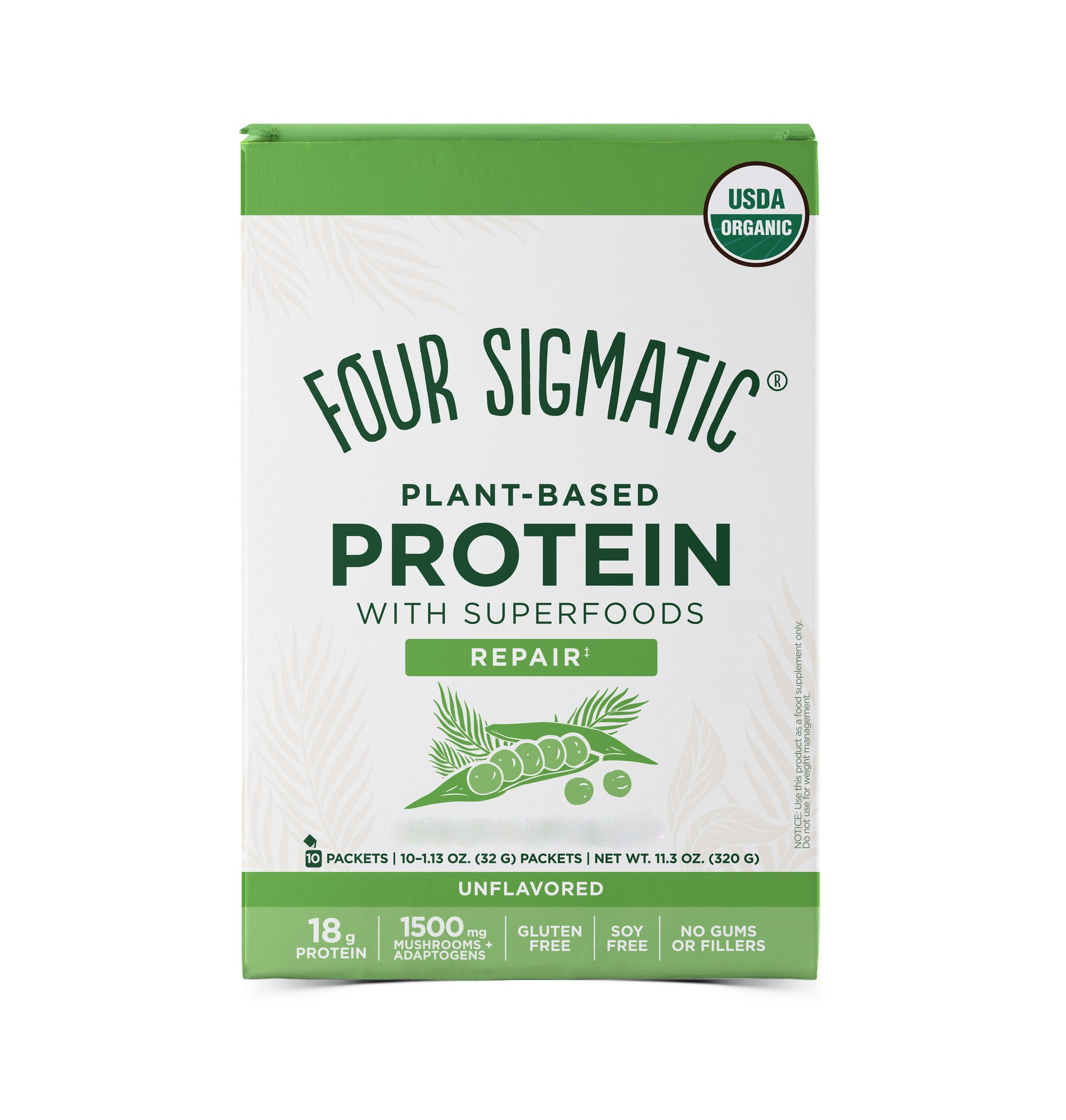 Plant-Based Protein With Superfoods Repair Unflavoured 10 x 40g