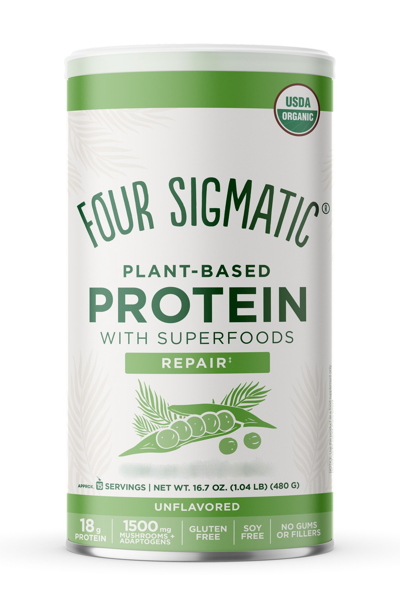Plant-Based Protein with Superfoods Repair Unflavoured 480g