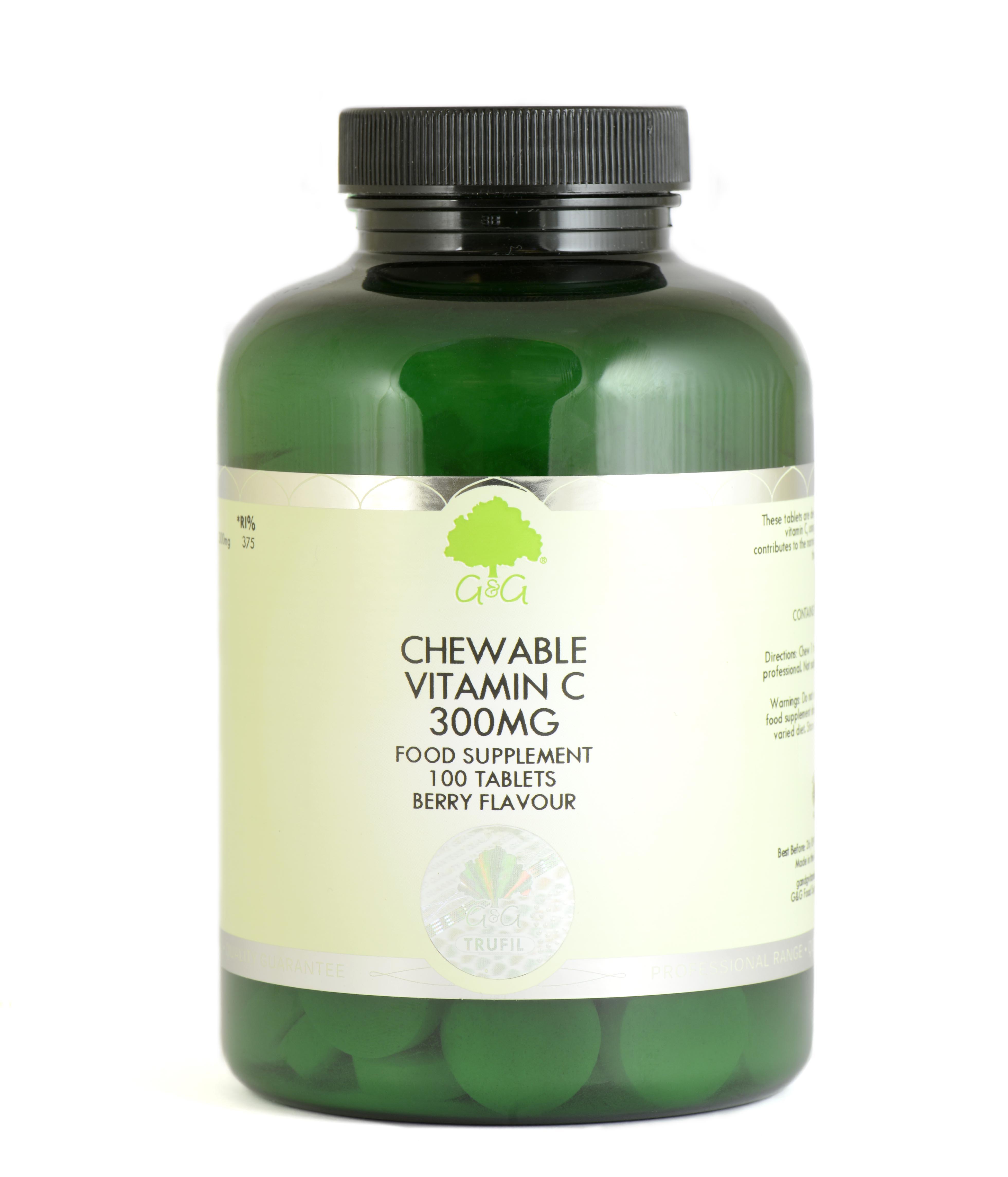 Chewable Vitamin C 300mg 100's