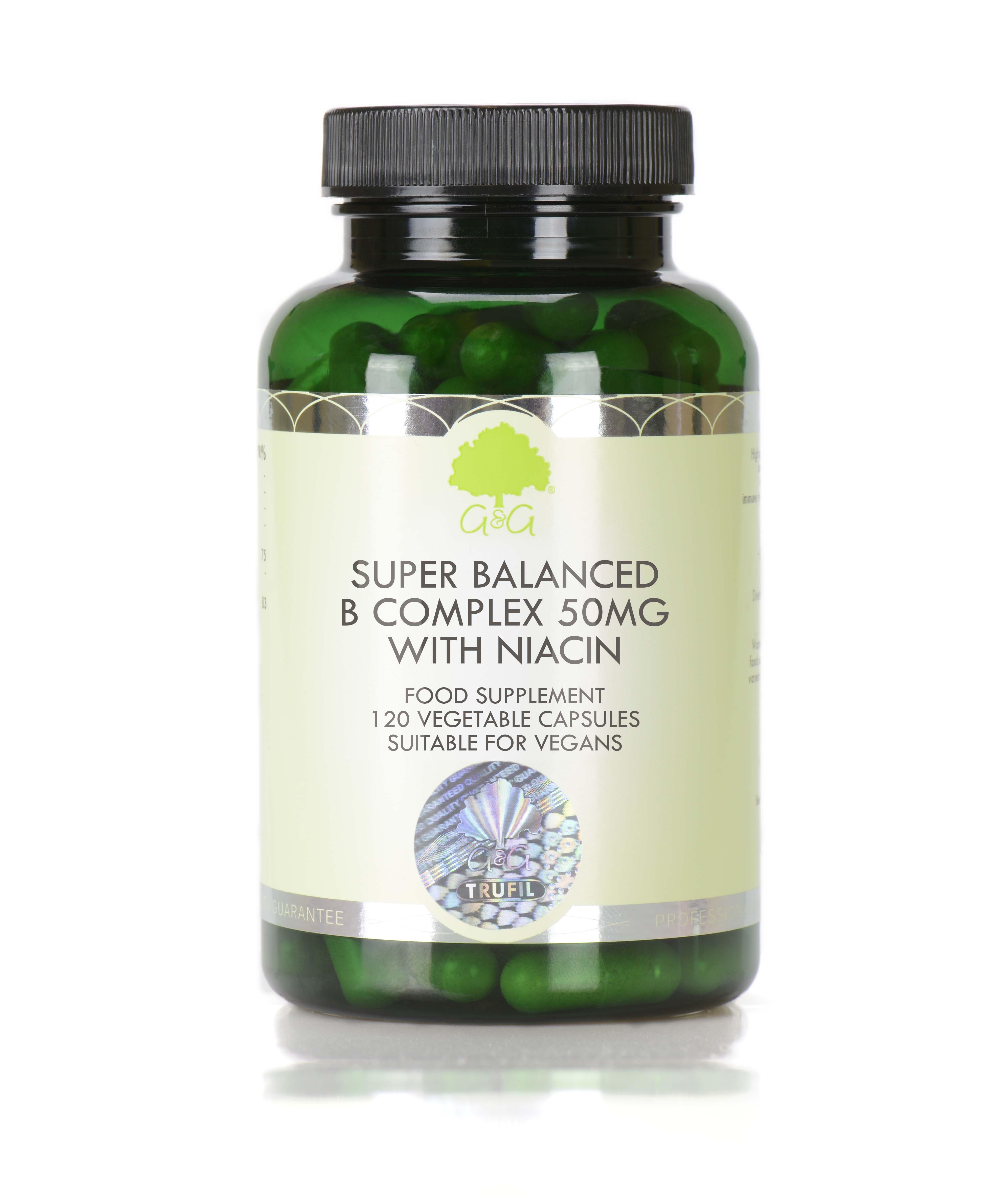 Super Balanced B Complex with Niacin 120's