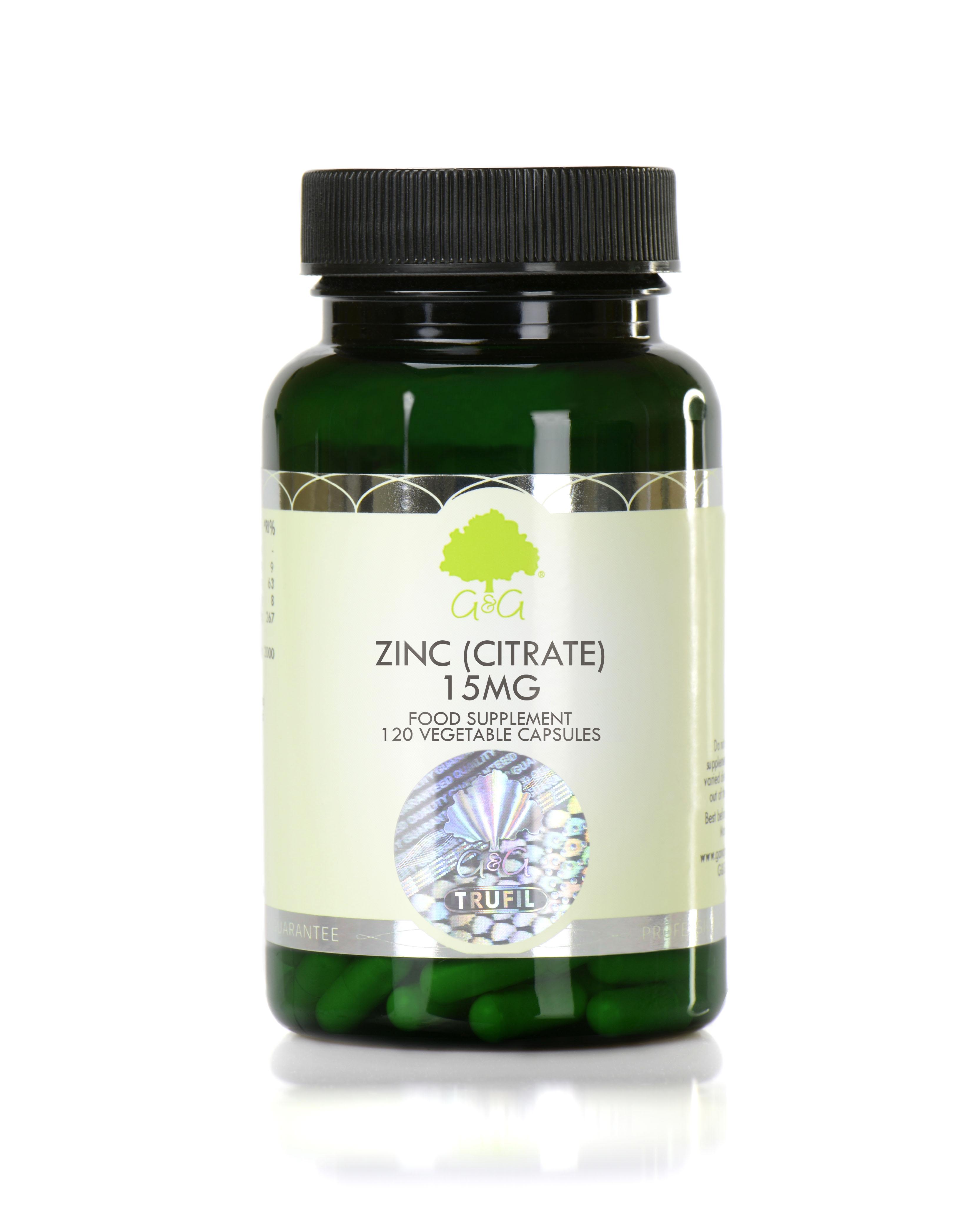 Zinc (Citrate) 15mg 120's
