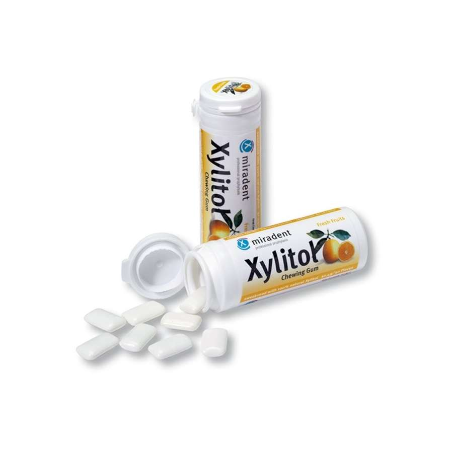 Miradent Xylitol Gum Fresh Fruits 12 x 30's