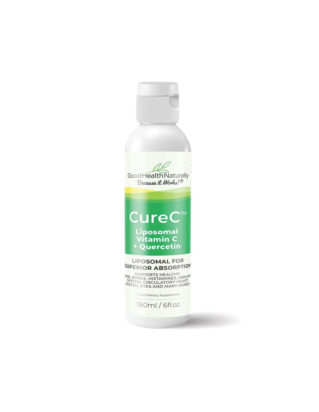 CureC Liposomal Vitamin C + Quercetin 180ml