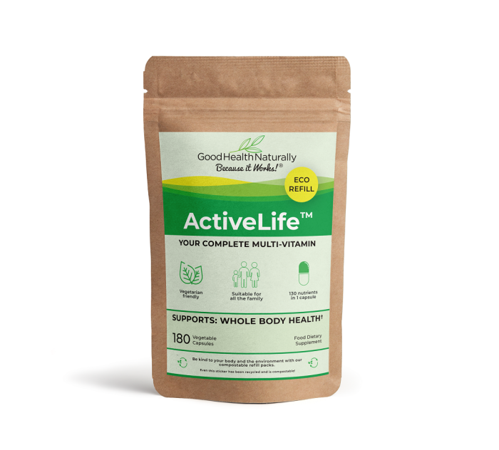 Active Life Eco Refill Pouch 180's