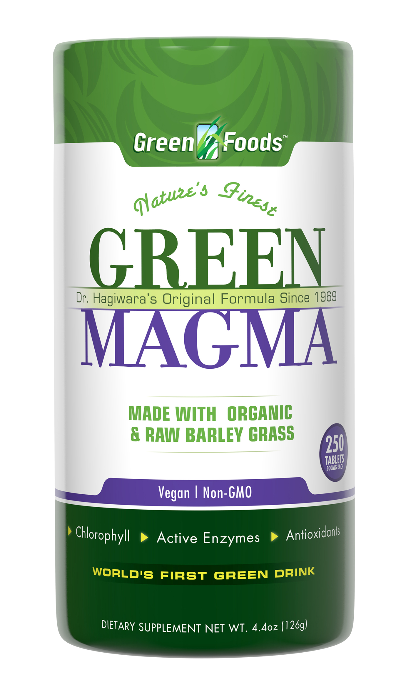 Organic Barley Grass Juice Extract Tablets 250's