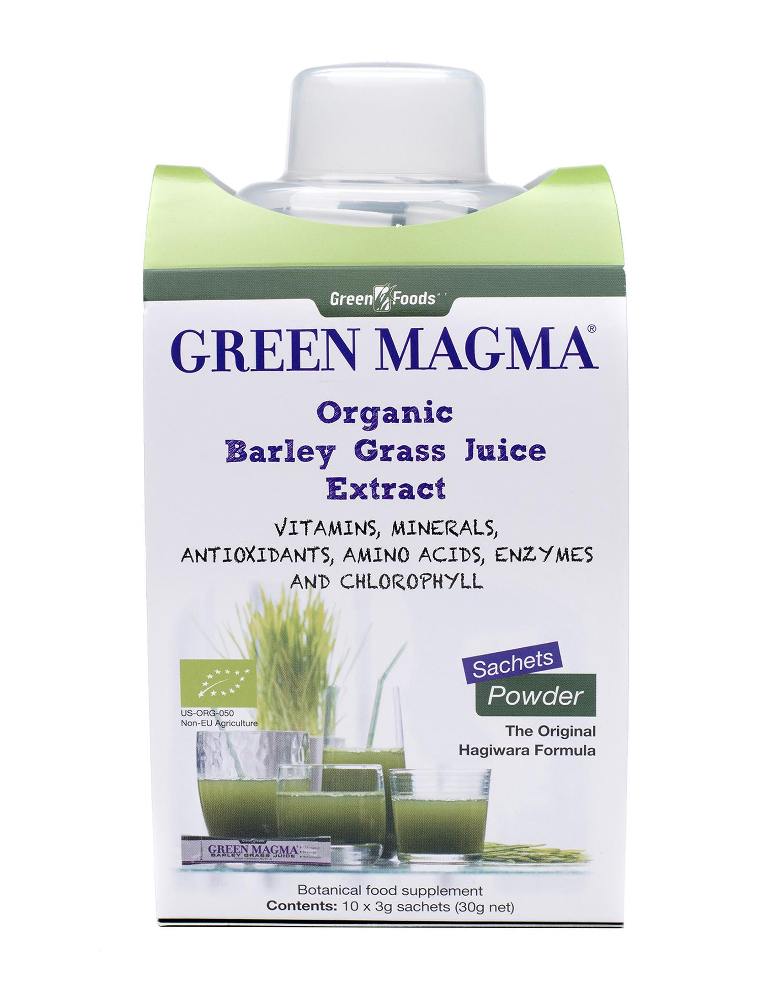 Organic Barley Grass Juice Extract 10 x 3g Sachets