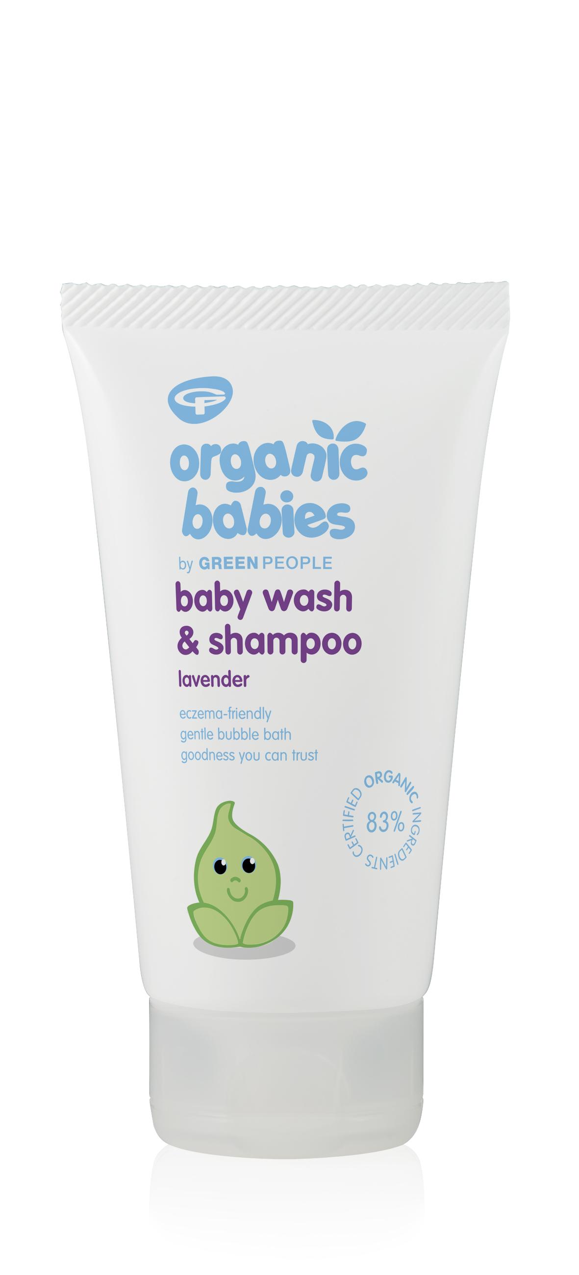 Organic Babies Baby Wash and Shampoo Lavender 150ml