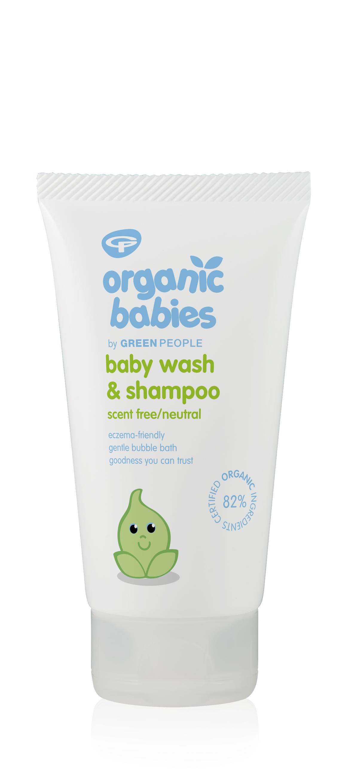 Organic Babies Baby Wash & Shampoo Scent Free 150ml