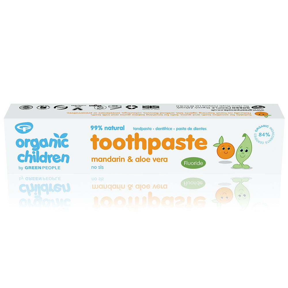 Organic Children Toothpaste Mandarin and Aloe Vera  with Fluoride 50ml