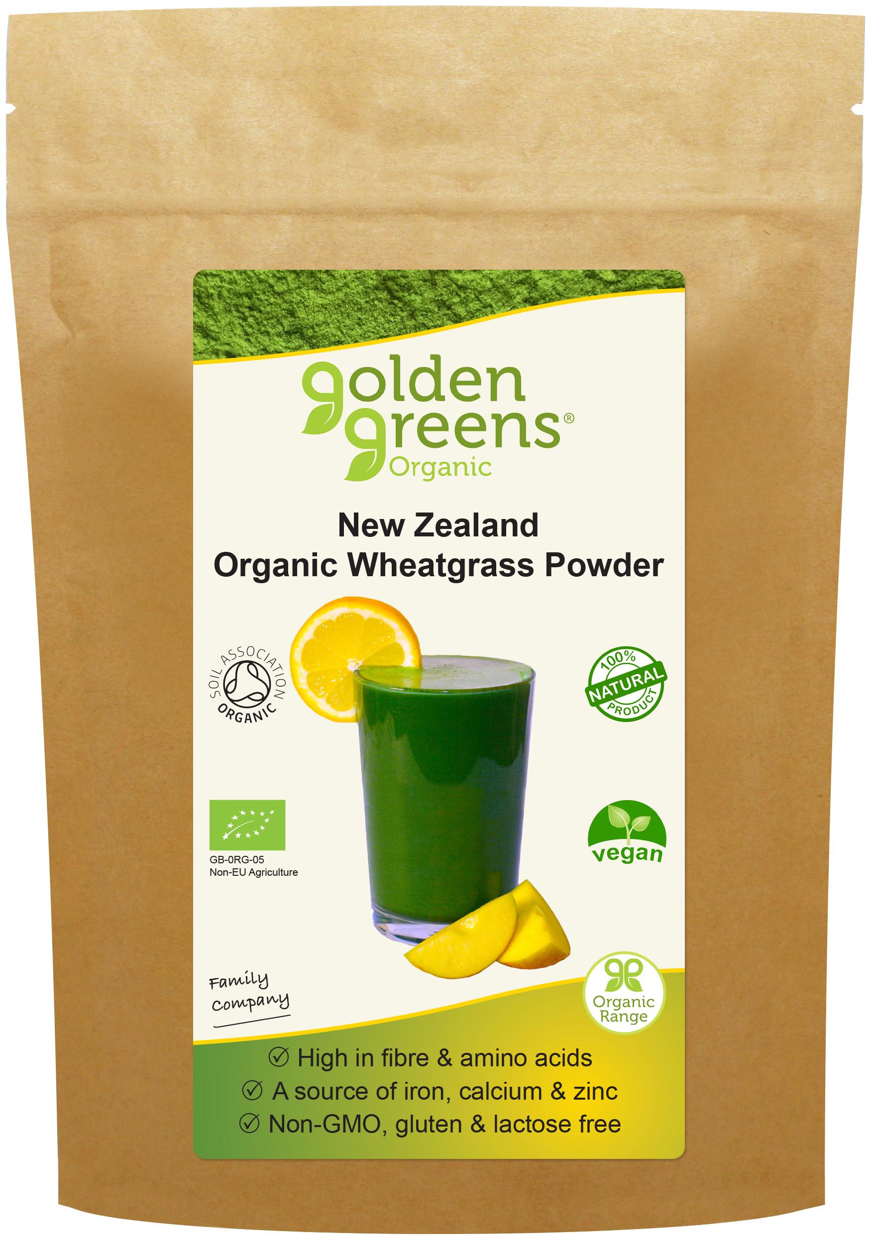 New Zealand Organic Wheatgrass Powder 100g