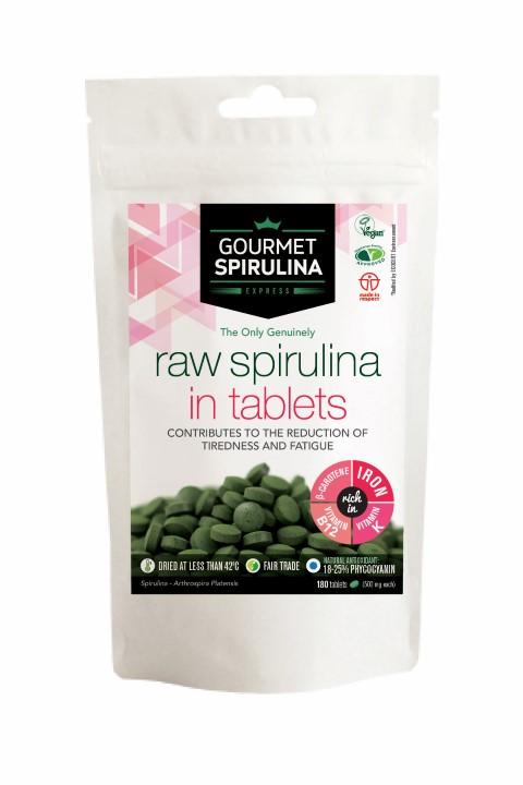 Raw Spirulina in Tablets 180's
