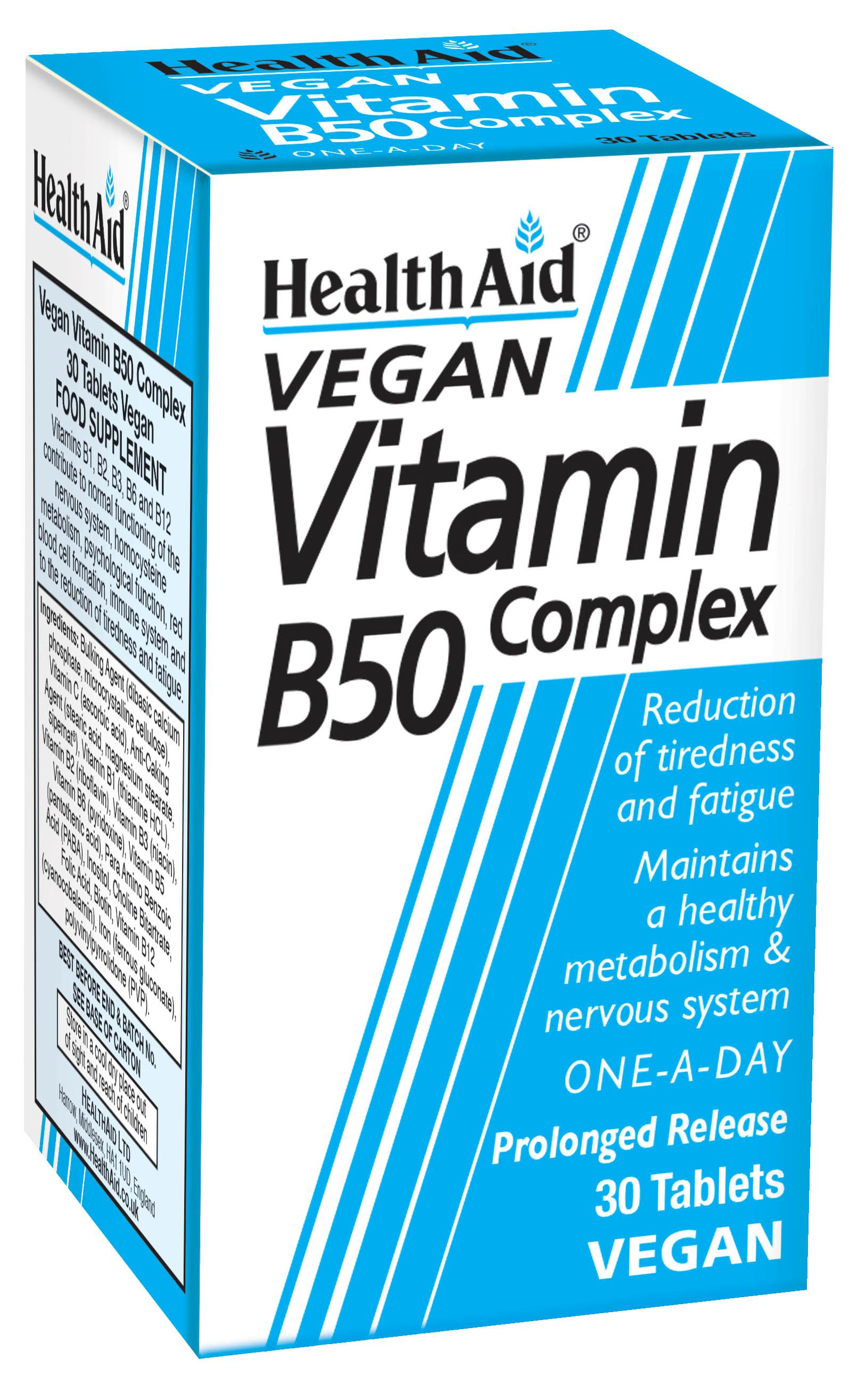 Vegan Vitamin B50 Complex 30's