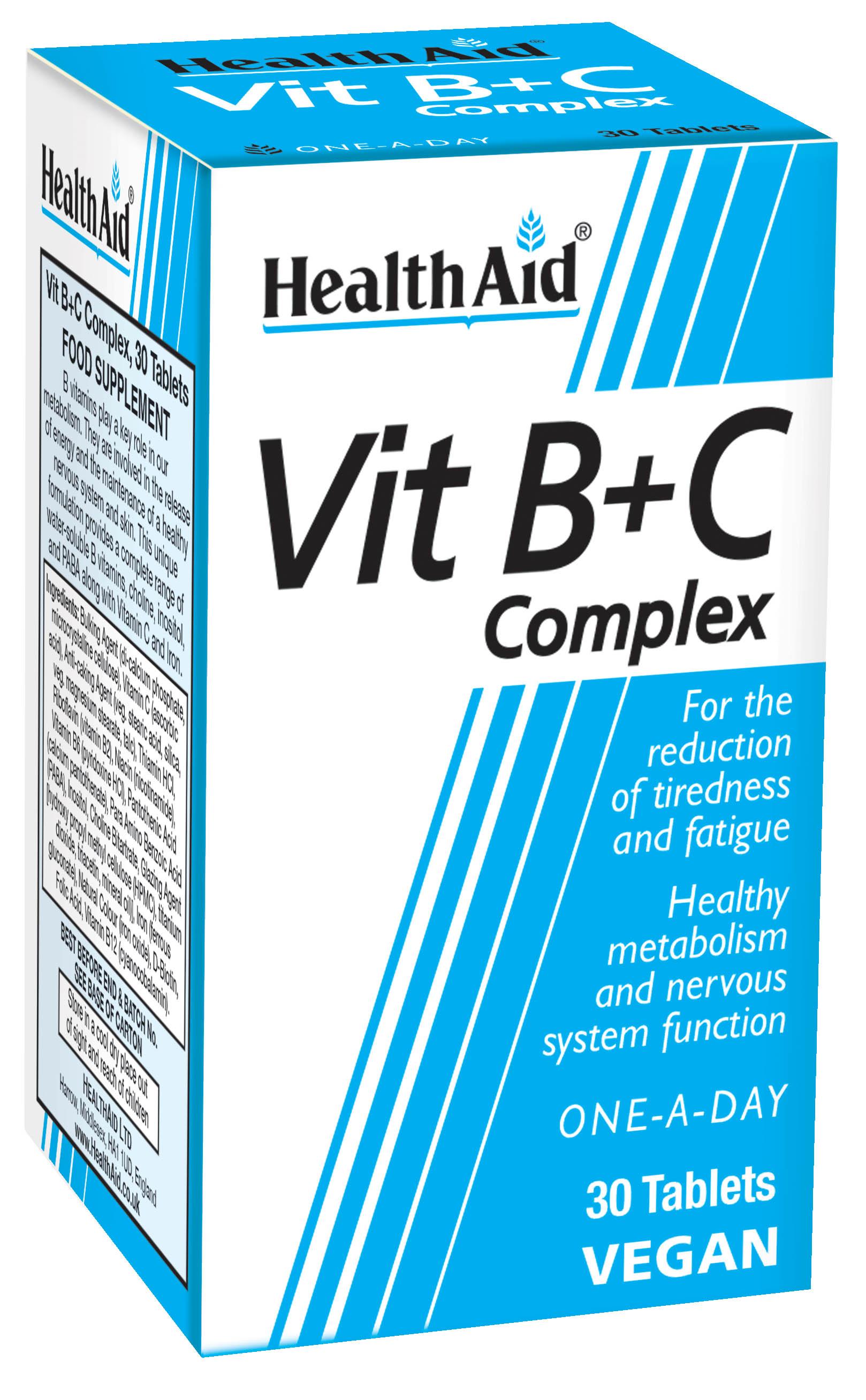 Vitamin B+C Complex Prolonged Release 30's