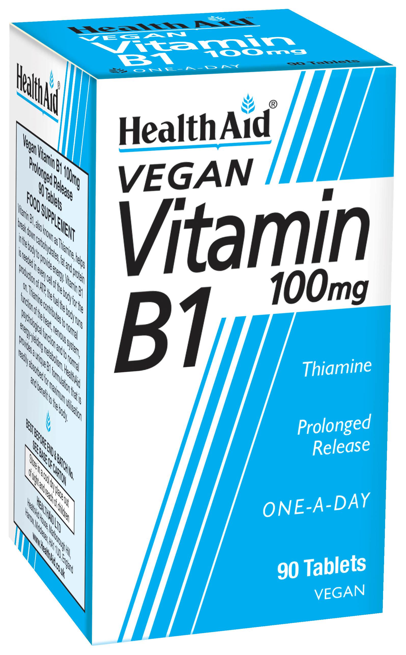 Vegan Vitamin B1 100mg 90's