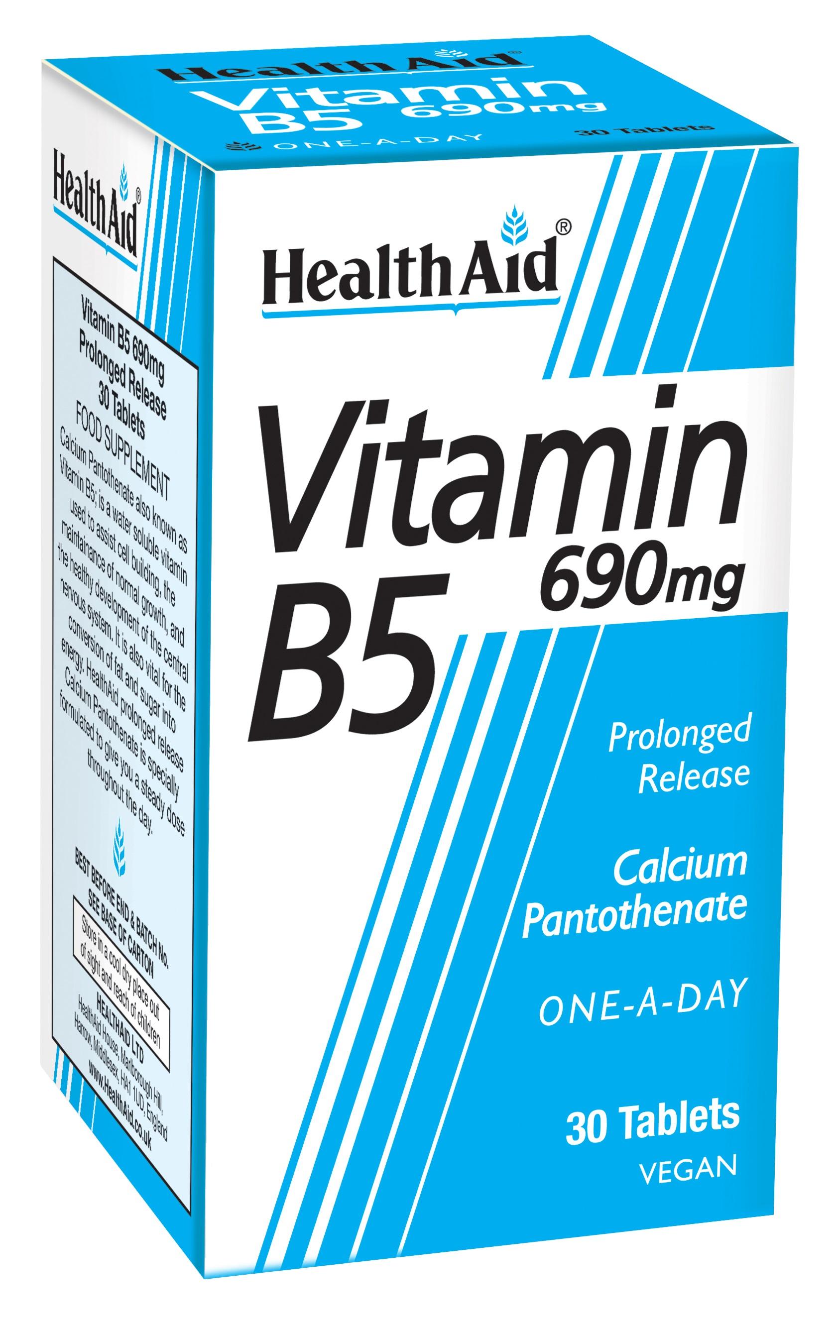 Vitamin B5 690mg 30's