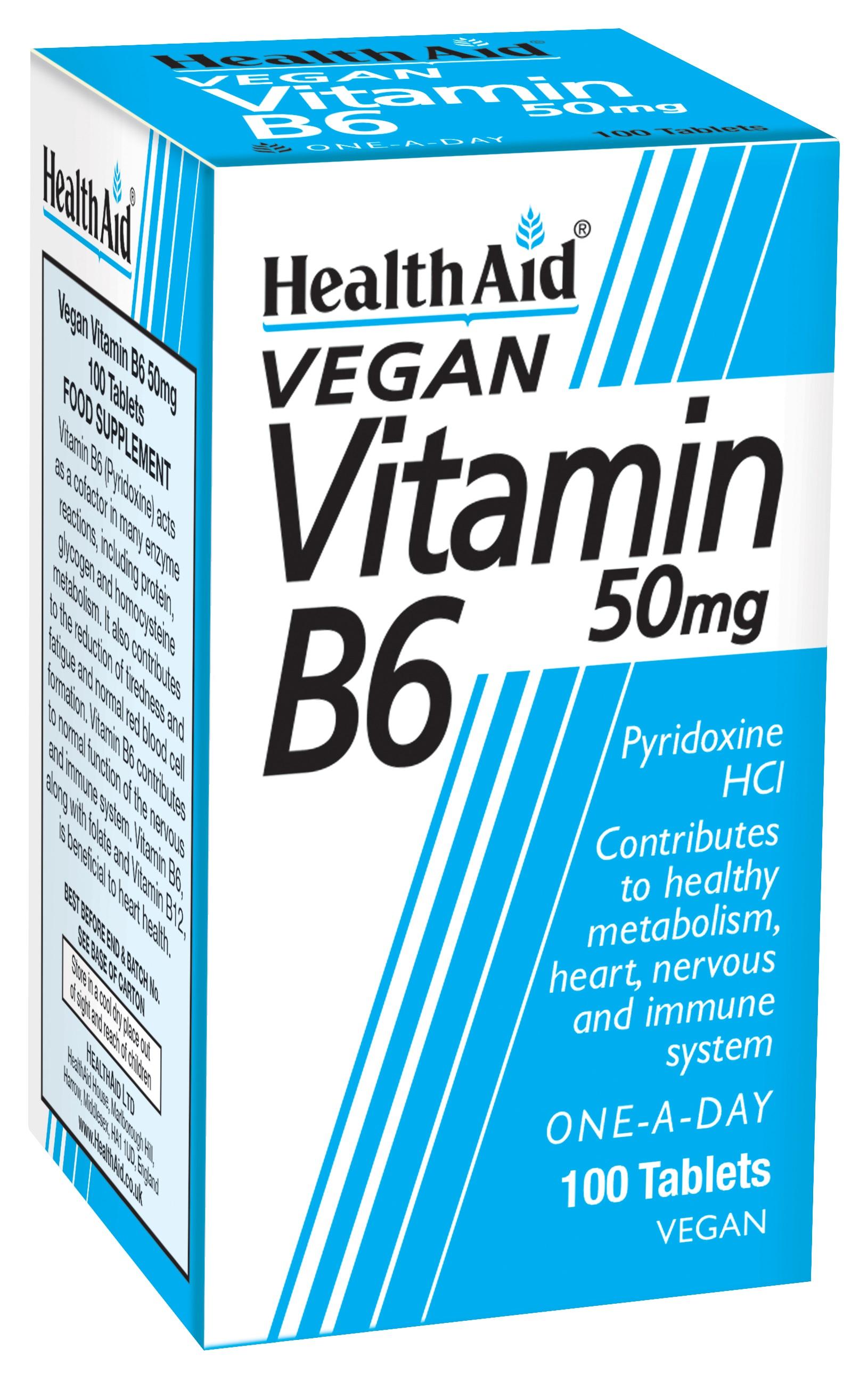 Vitamin B6 50mg 100's