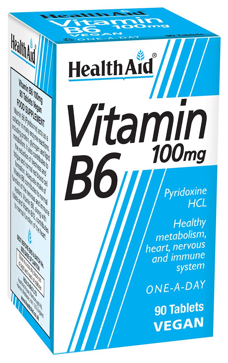 Vitamin B6 100mg 90's