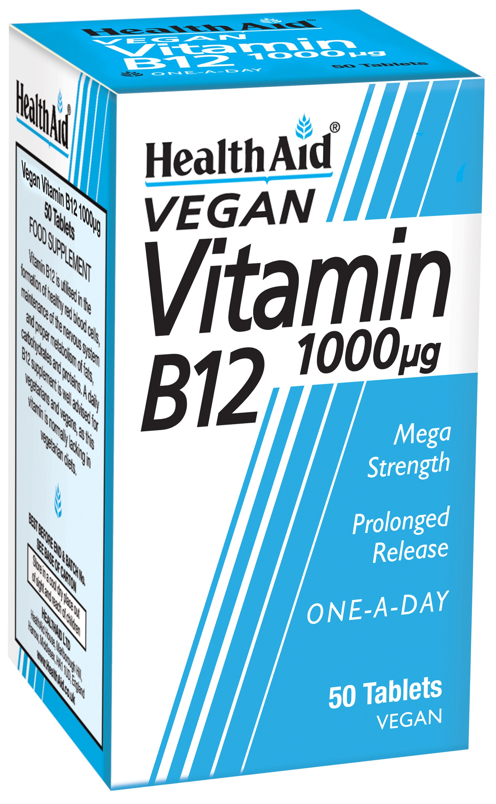 Vegan Vitamin B12 1000ug 50's
