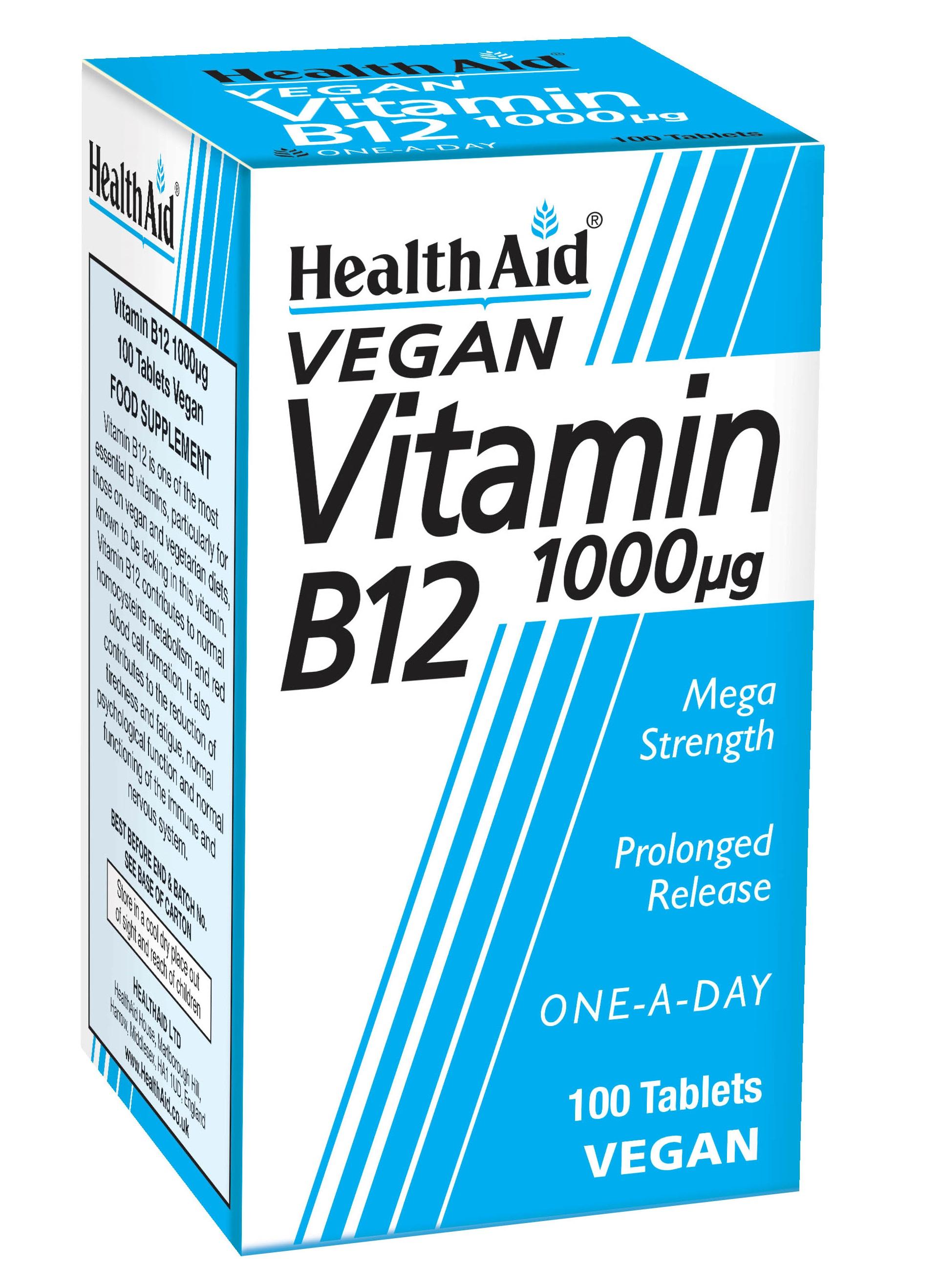 Vegan Vitamin B12 1000ug 100's