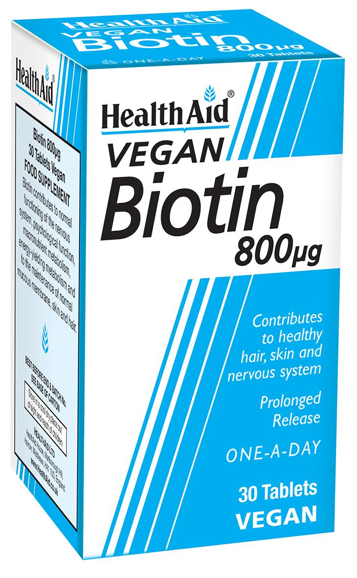 Vegan Biotin 800ug 30's