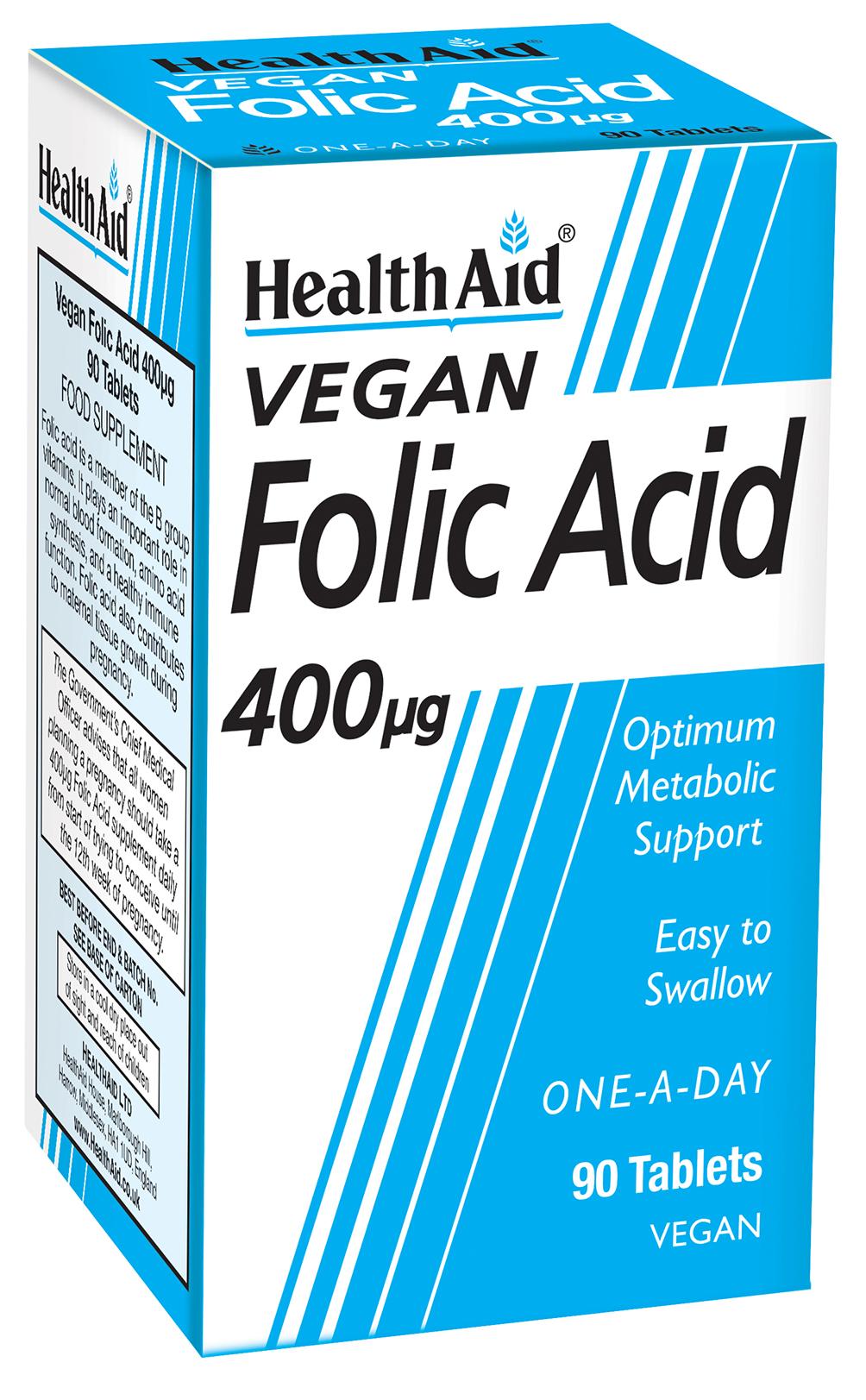 Vegan Folic Acid 400ug 90's