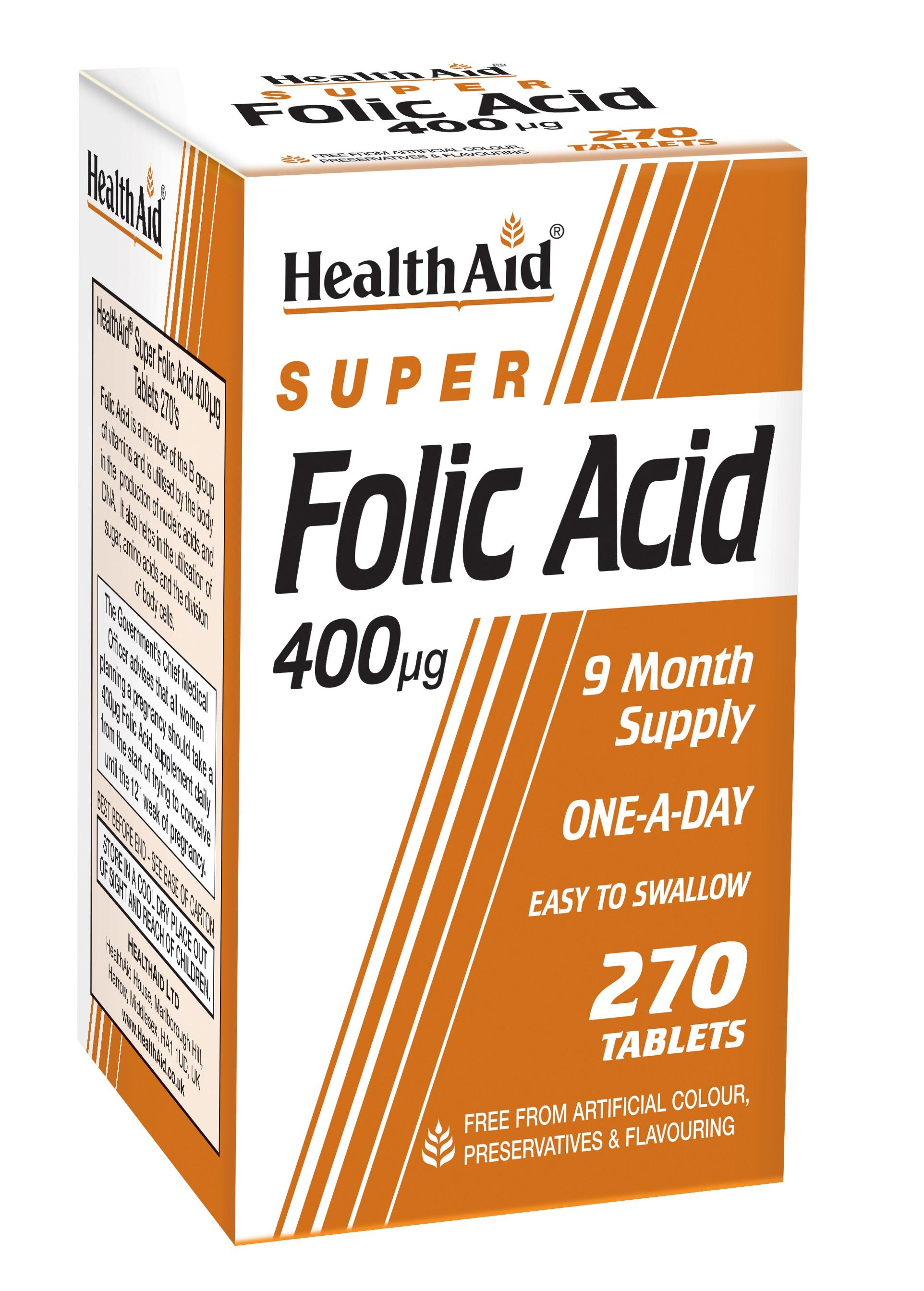 Super Folic Acid 400ug  270's