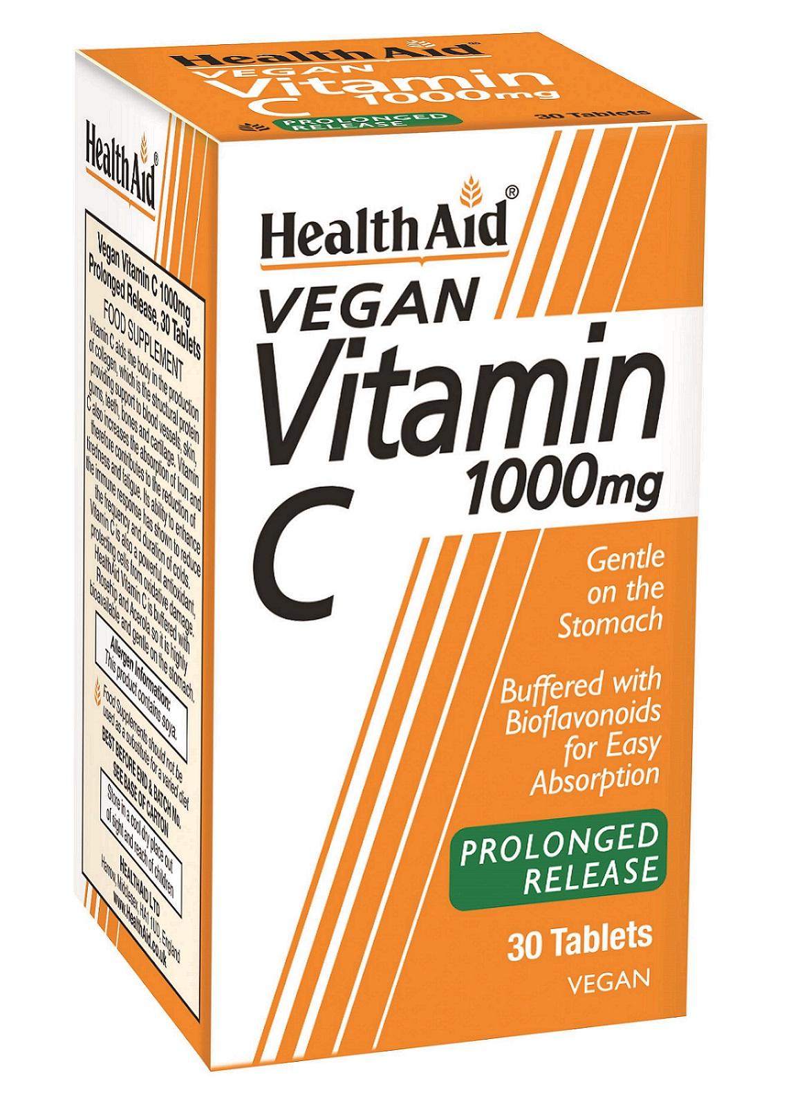 Vegan Vitamin C 1000mg Prolonged Release 30's