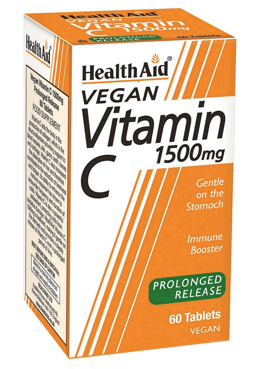 Vegan Vitamin C 1500mg Prolonged Release 60's