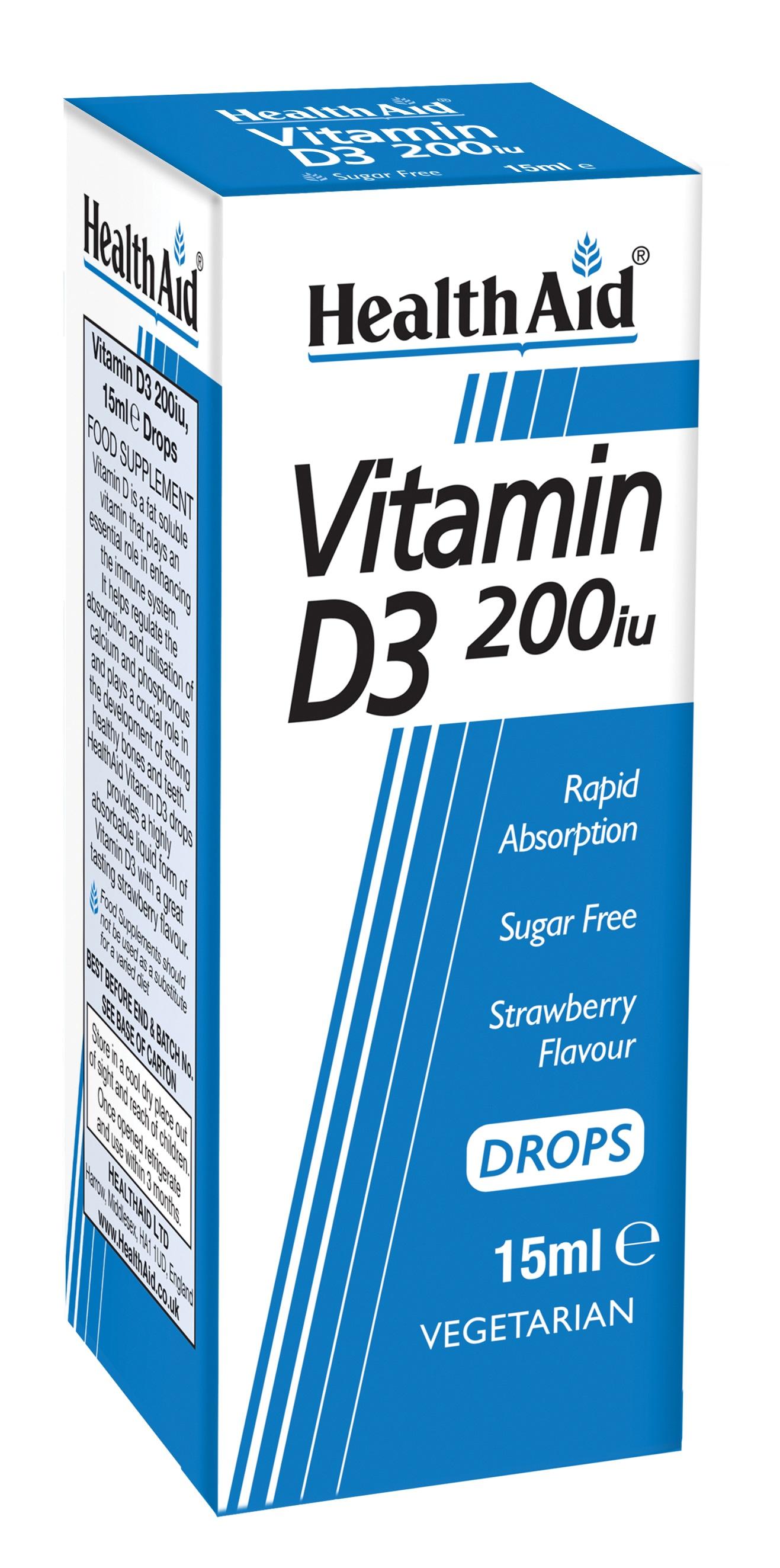 Vitamin D3 200iu Drops 15ml