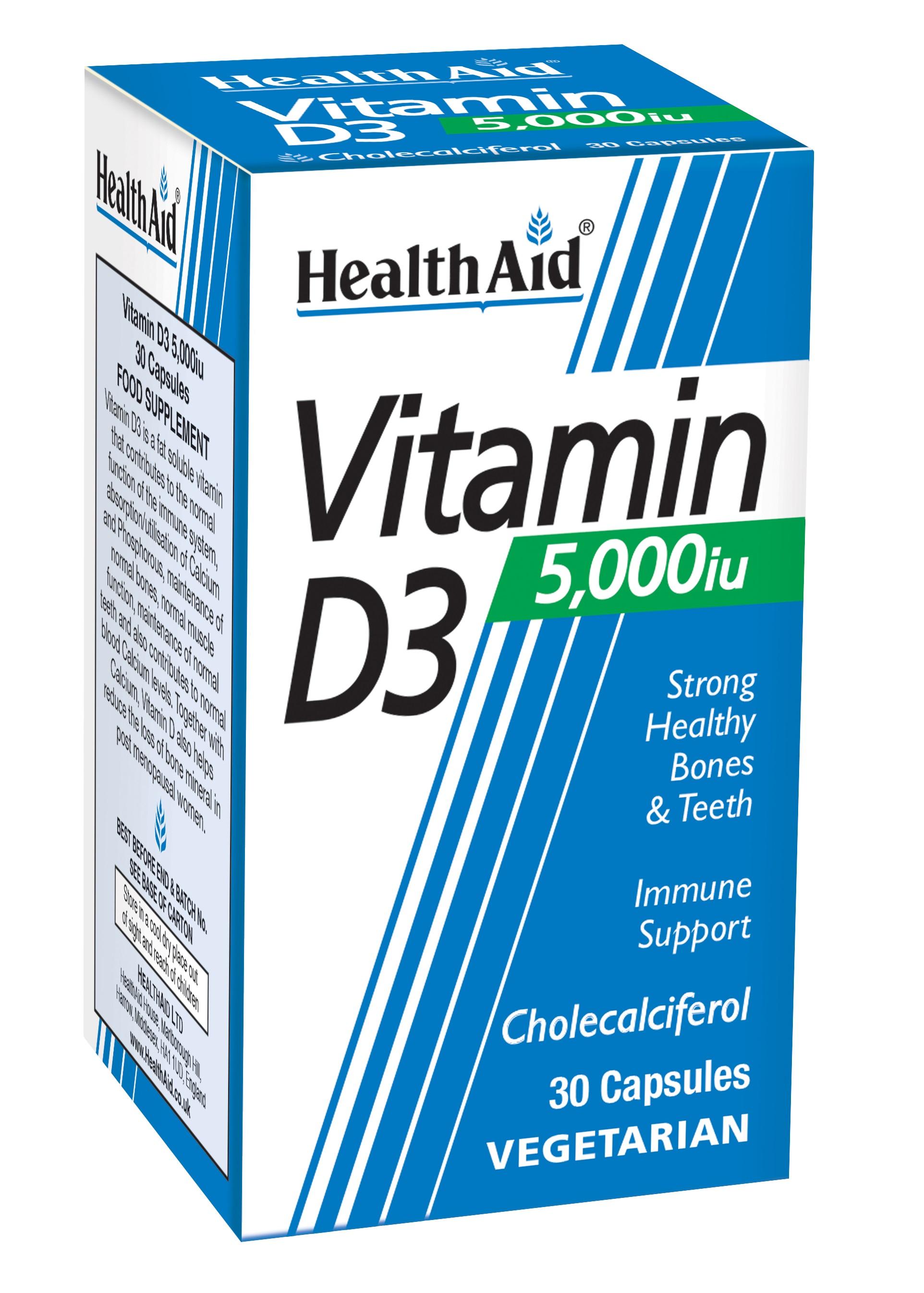 Vitamin D3 5000iu 30's