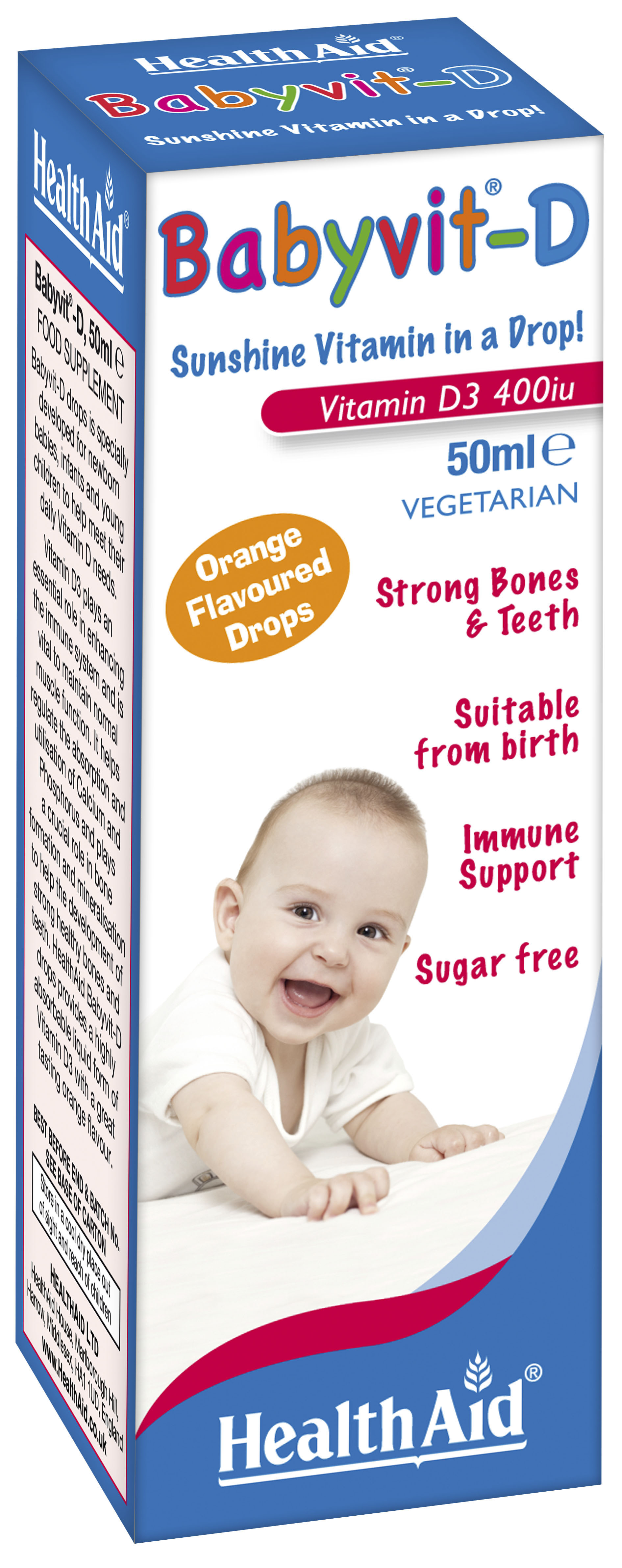 Babyvit-D Vitamin D 400iu 50ml