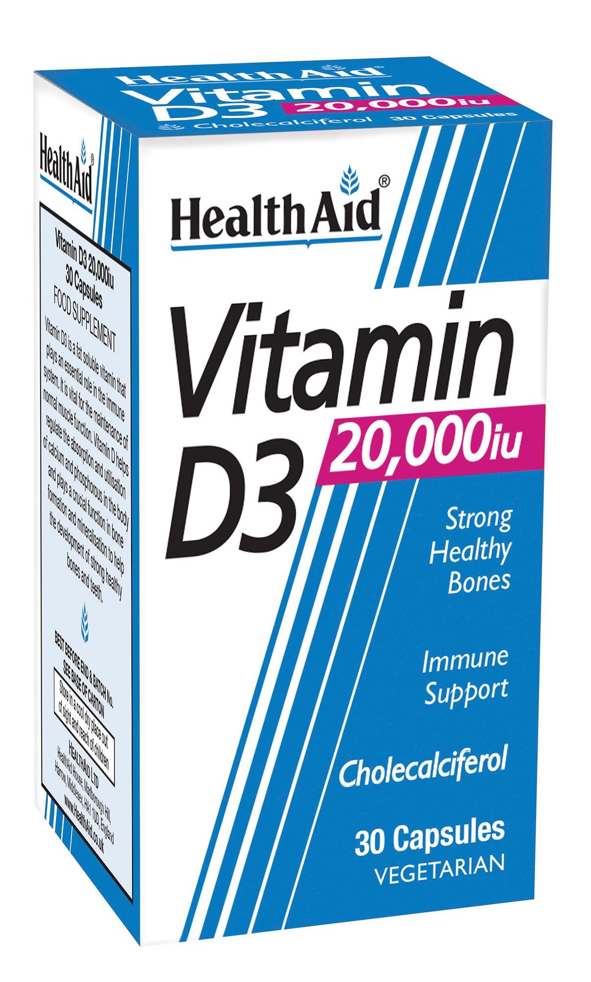 Vitamin D3 20,000iu 30's