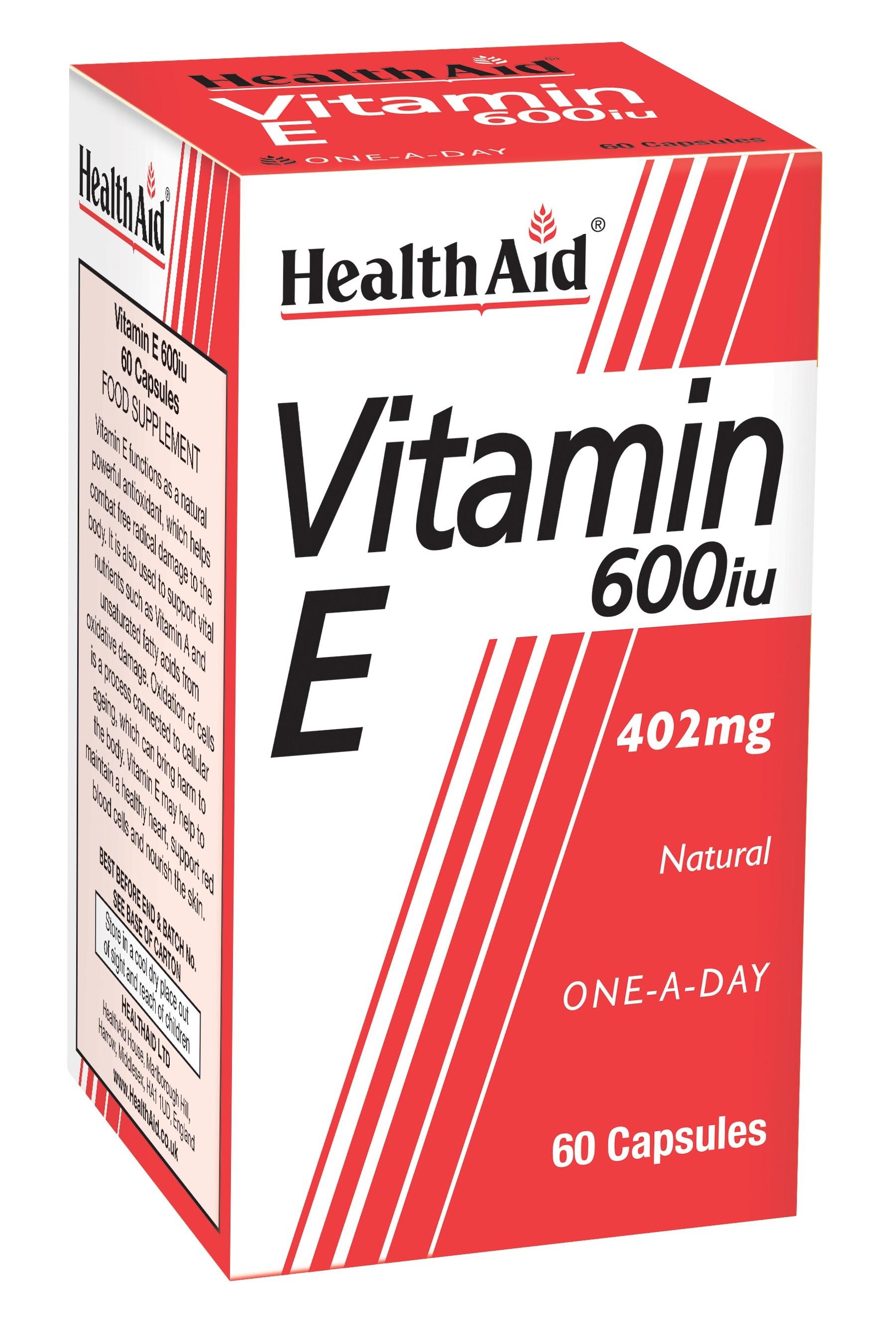 Vitamin E 600iu 60's