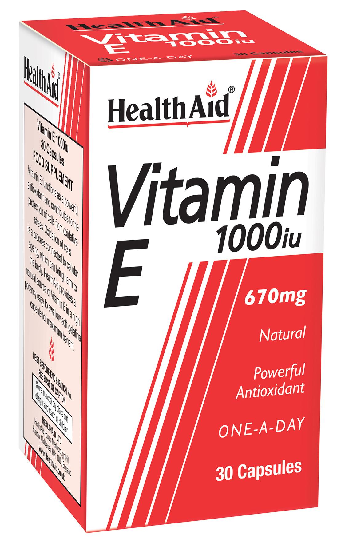 Vitamin E 1000iu 30's