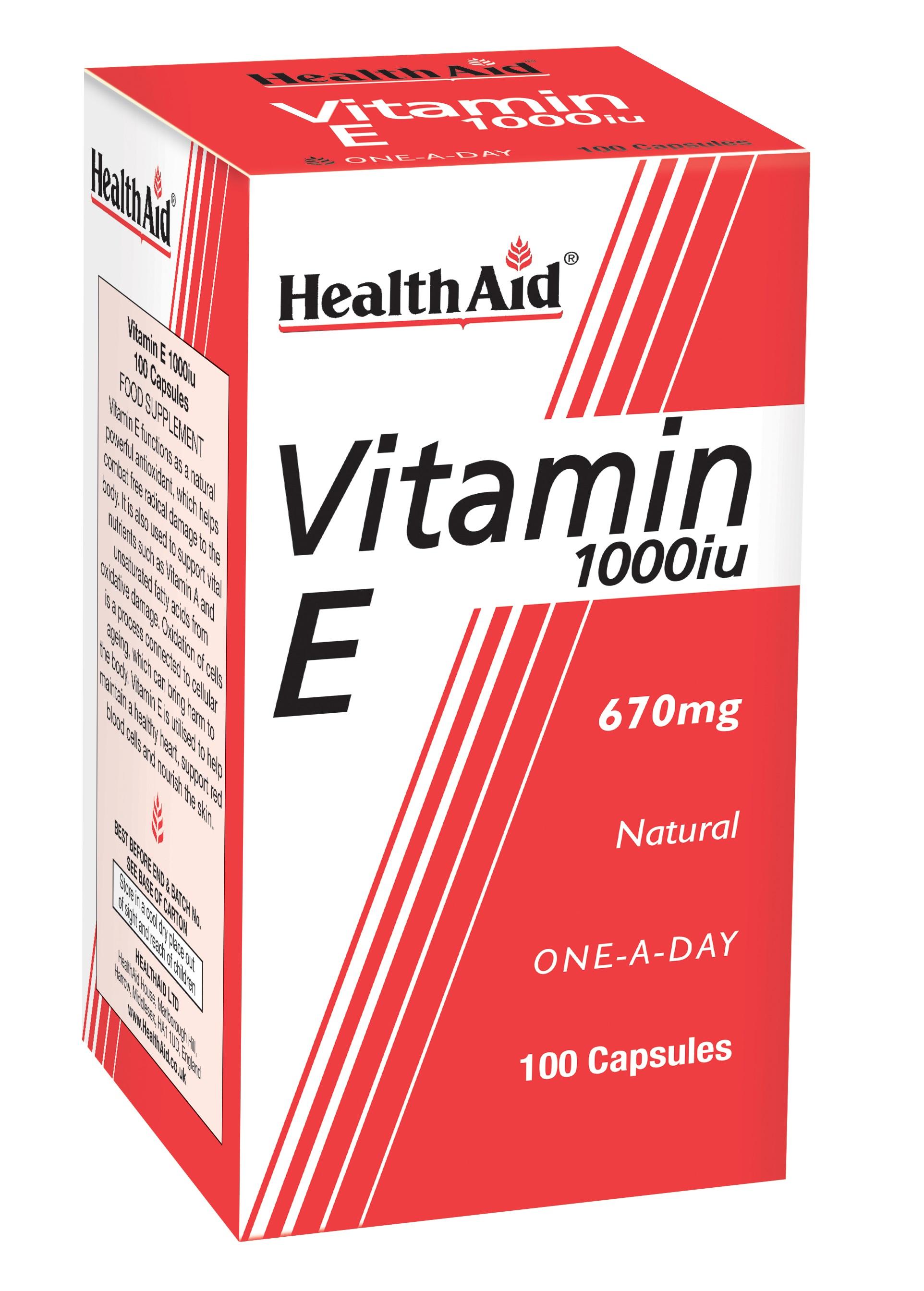Vitamin E 1000iu 100's