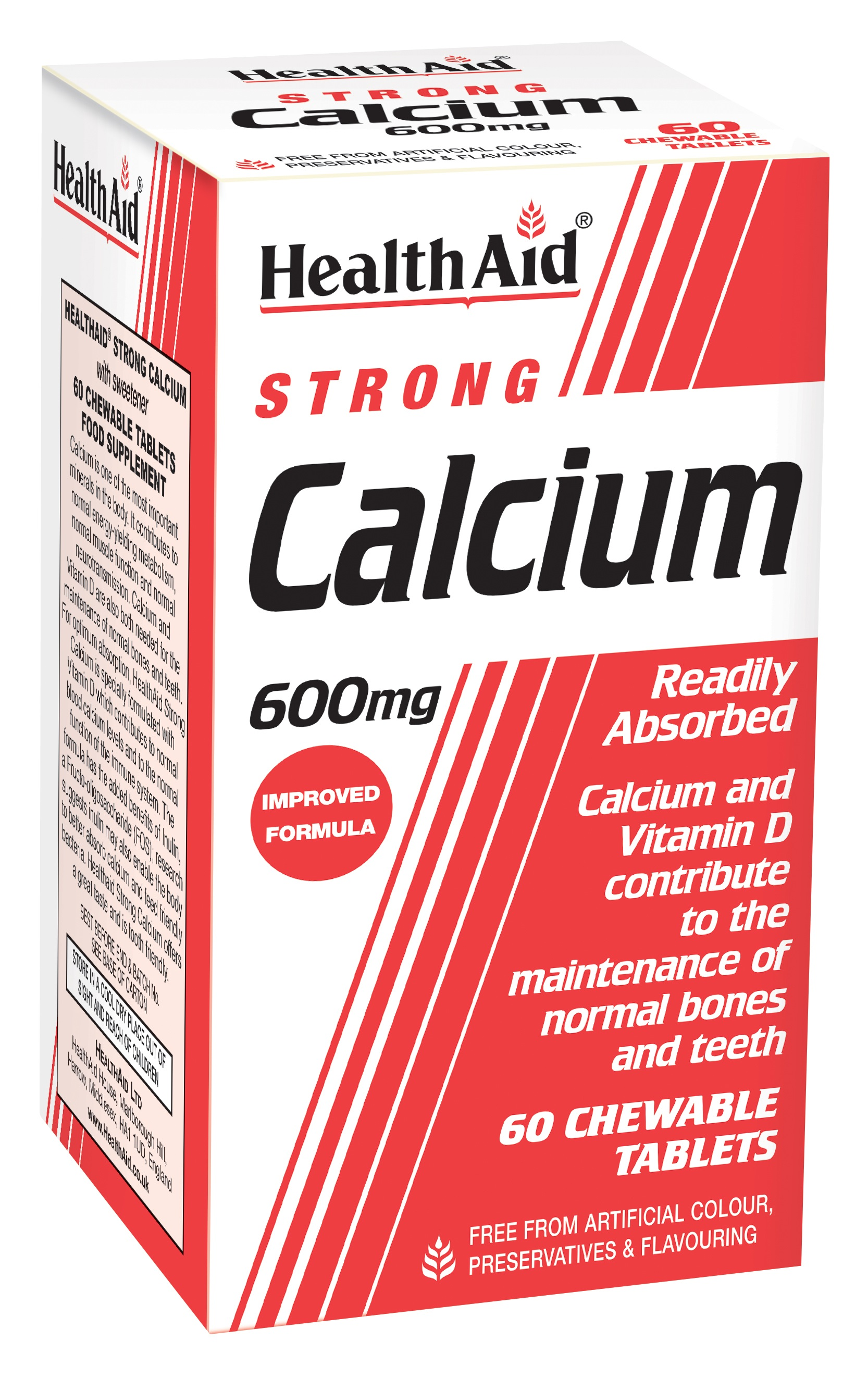 Strong Calcium 600mg Chewable 60's