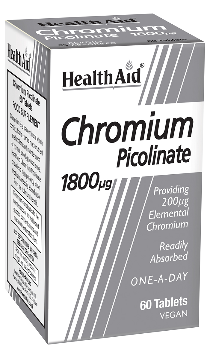 Chromium Picolinate 1800ug 60's