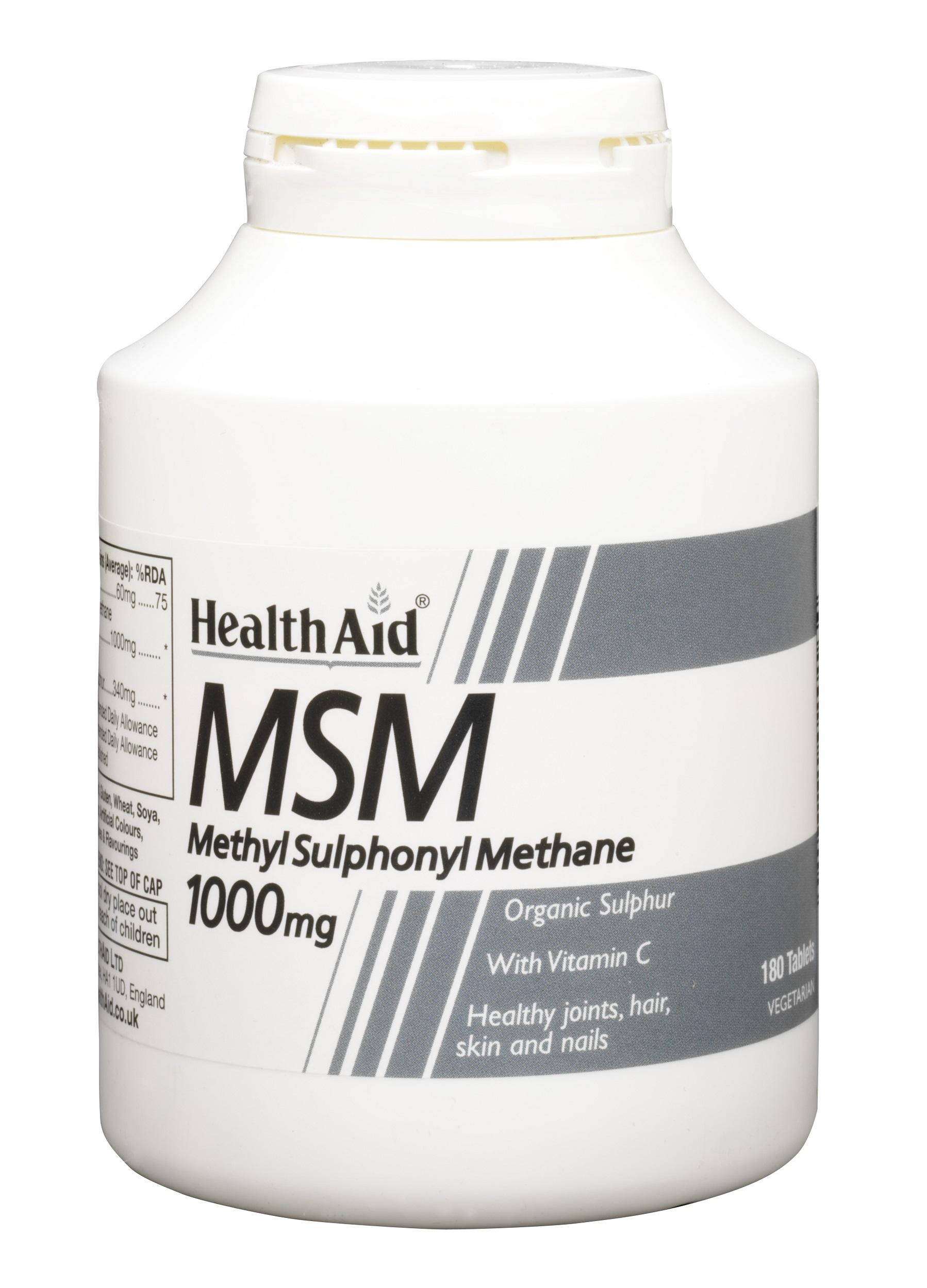 MSM 1000mg  180's