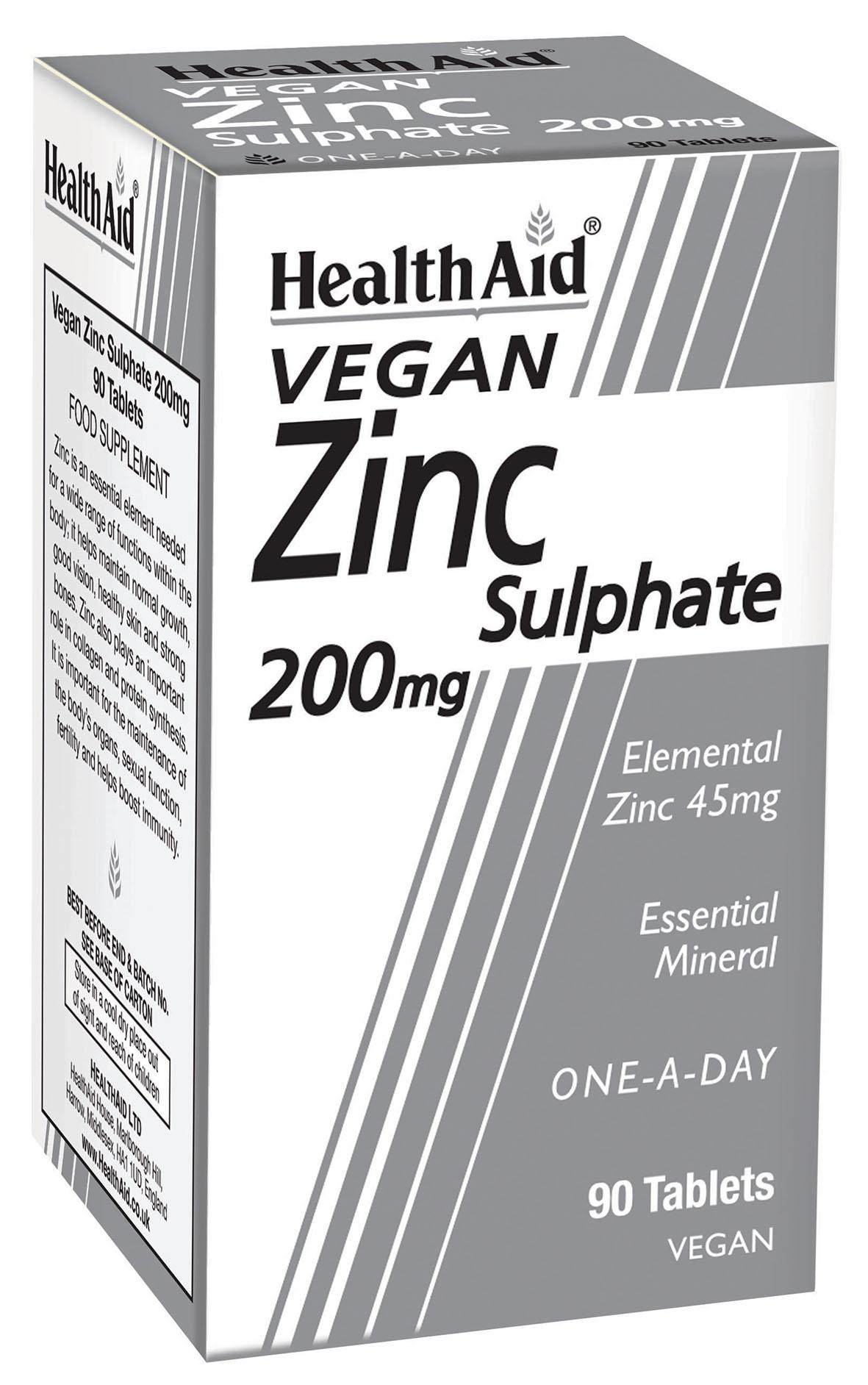 Zinc Sulphate 200mg 90's