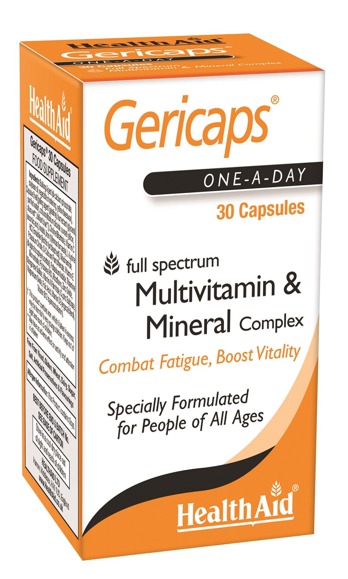 Gericaps Multivitamin & Mineral Complex  30's