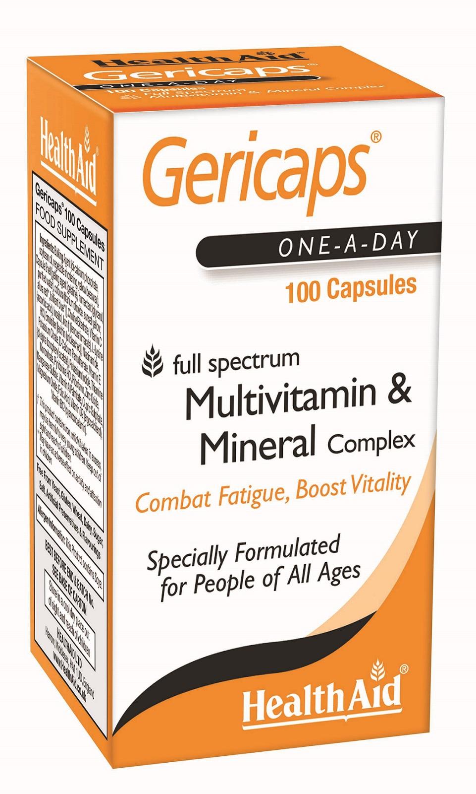 Gericaps Multivitamin & Mineral Complex  100's