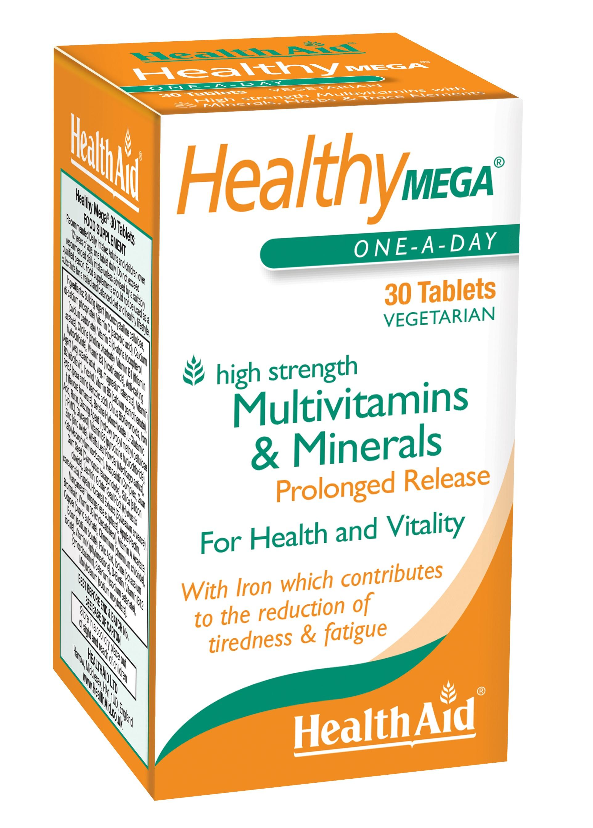 Healthy Mega Multi Vitamin & Minerals Prolonged Release  30's
