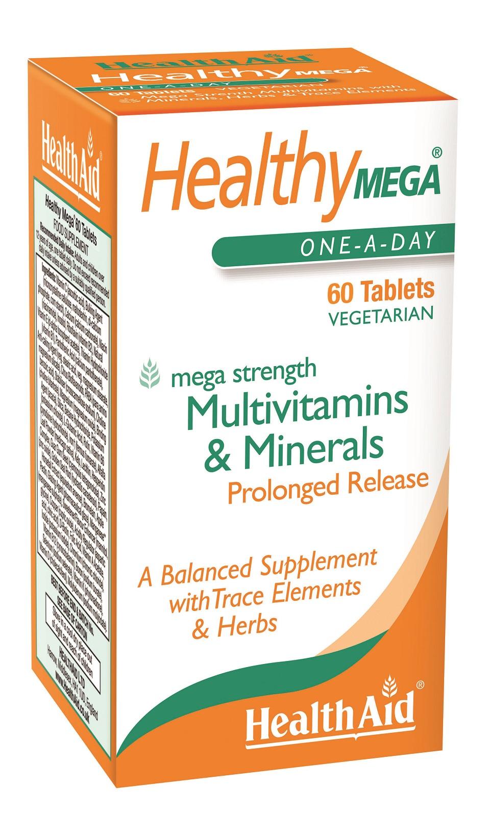 Healthy Mega Multi Vitamin & Minerals Prolonged Release  60's