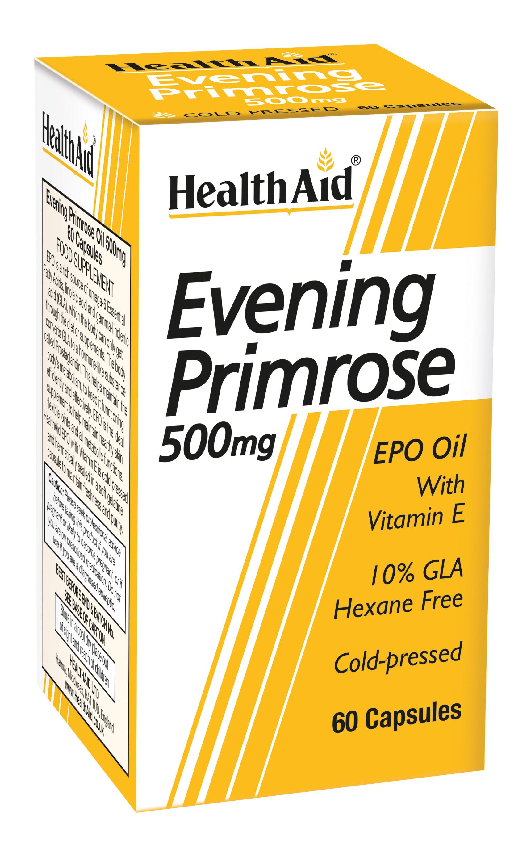Evening Primrose Oil 500mg with Vitamin E   60's