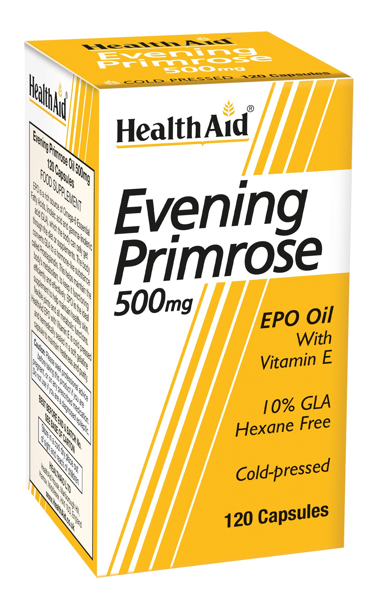 Evening Primrose Oil 500mg with Vitamin E 120's