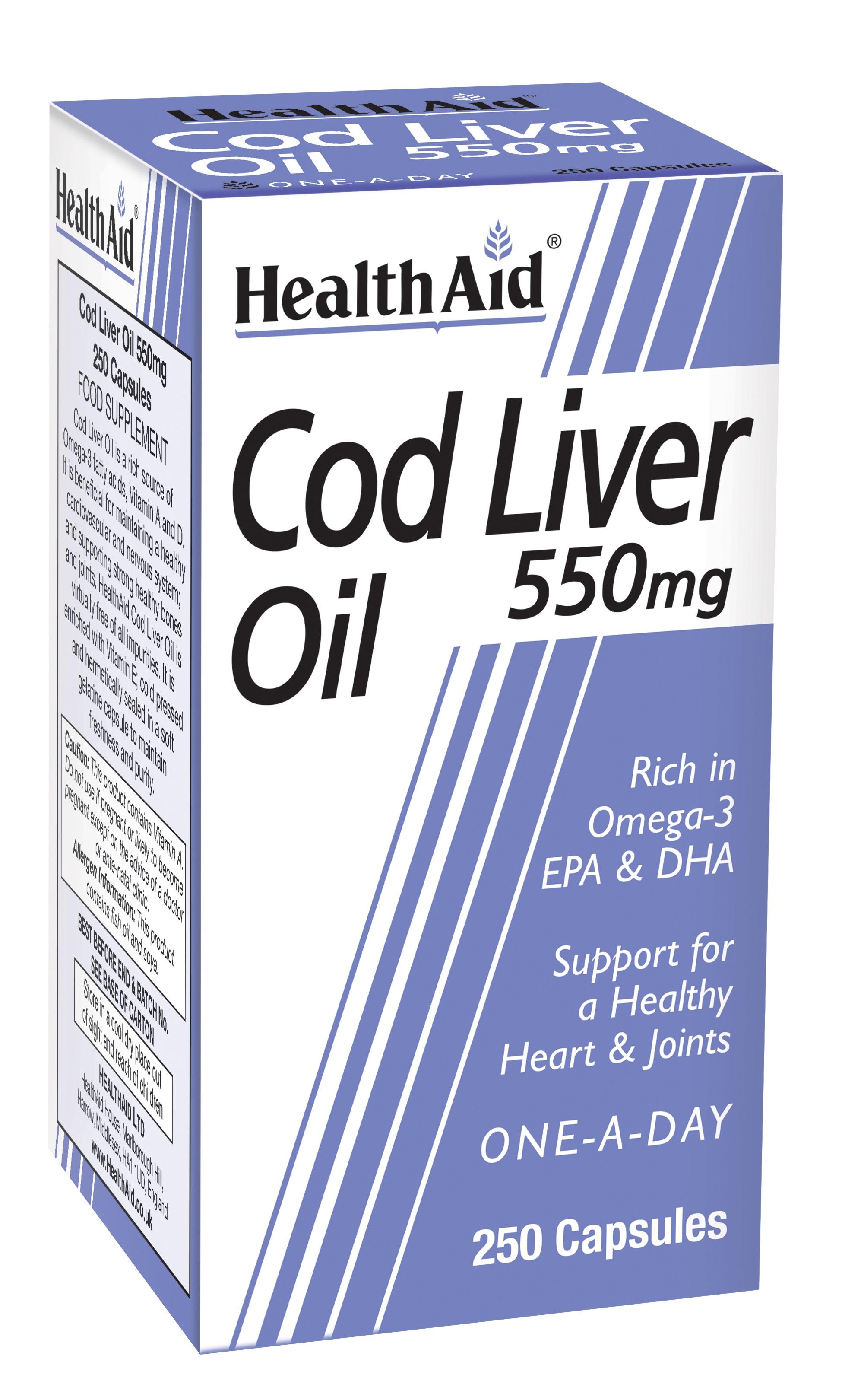 Cod Liver Oil 550mg 250's
