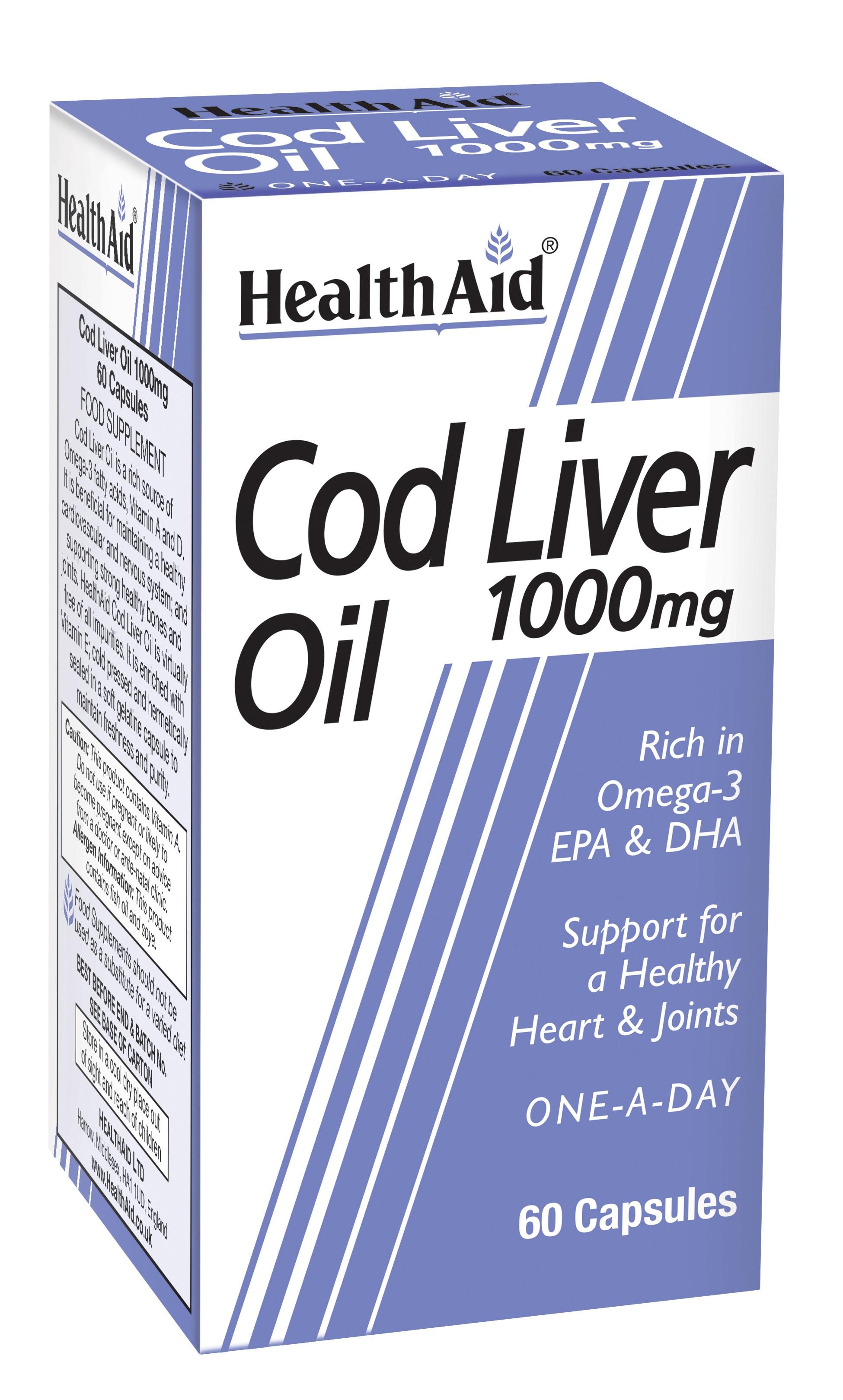 Cod Liver Oil 1000mg  60's