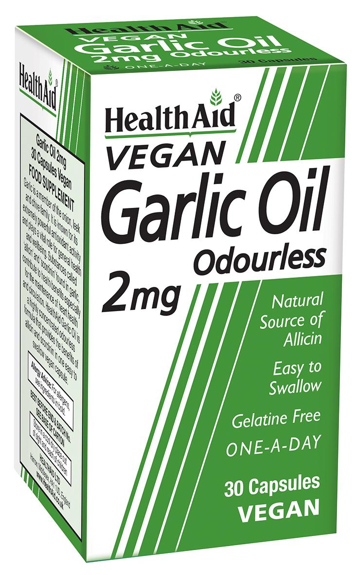 Vegan Garlic Oil 2mg Odourless 30's