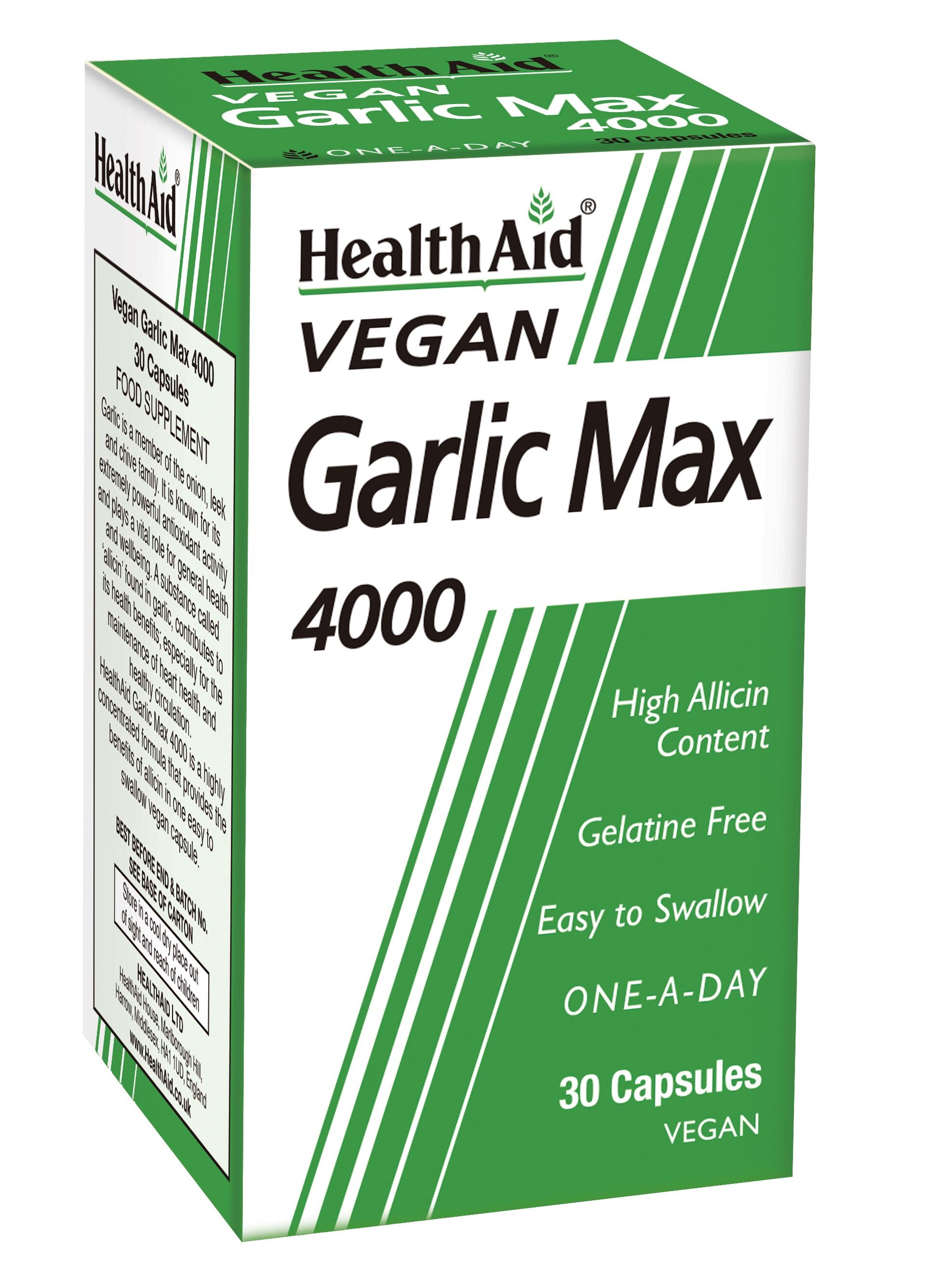 Vegan Garlic Max 4000 30's  (Formerly Maxi Garlic 4000)